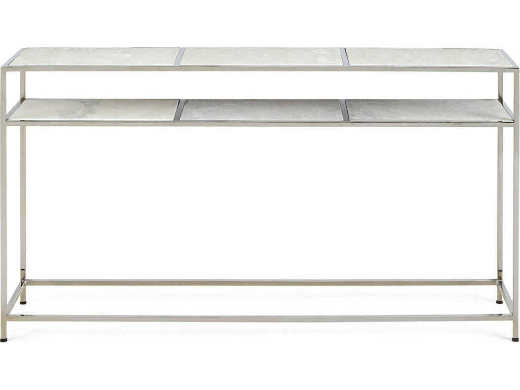 Regina Andrew Echelon Etched Marble With Polished Nickel 54''w X 12 In Echelon Console Tables (View 18 of 30)