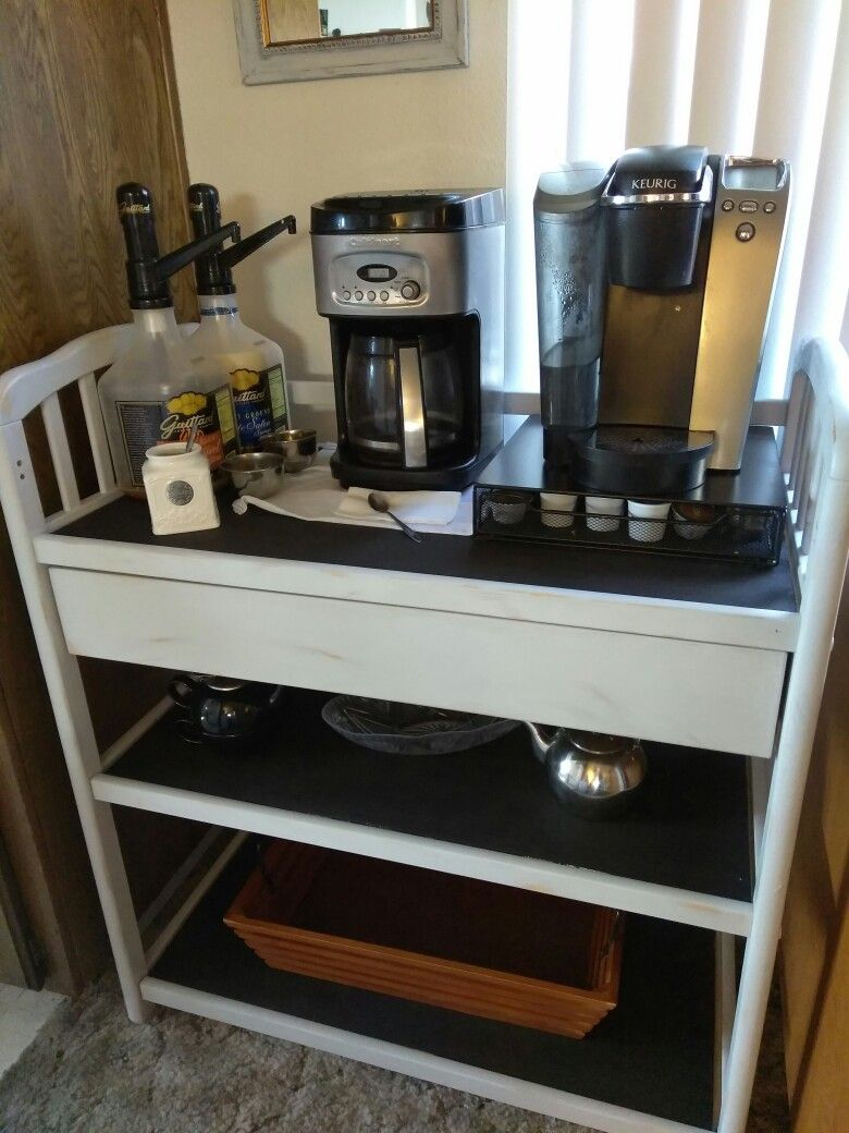 Repurposed Changing Table Turned Into A Coffee Bar, Painted With intended for Jacen 78 Inch Tv Stands (Image 27 of 30)
