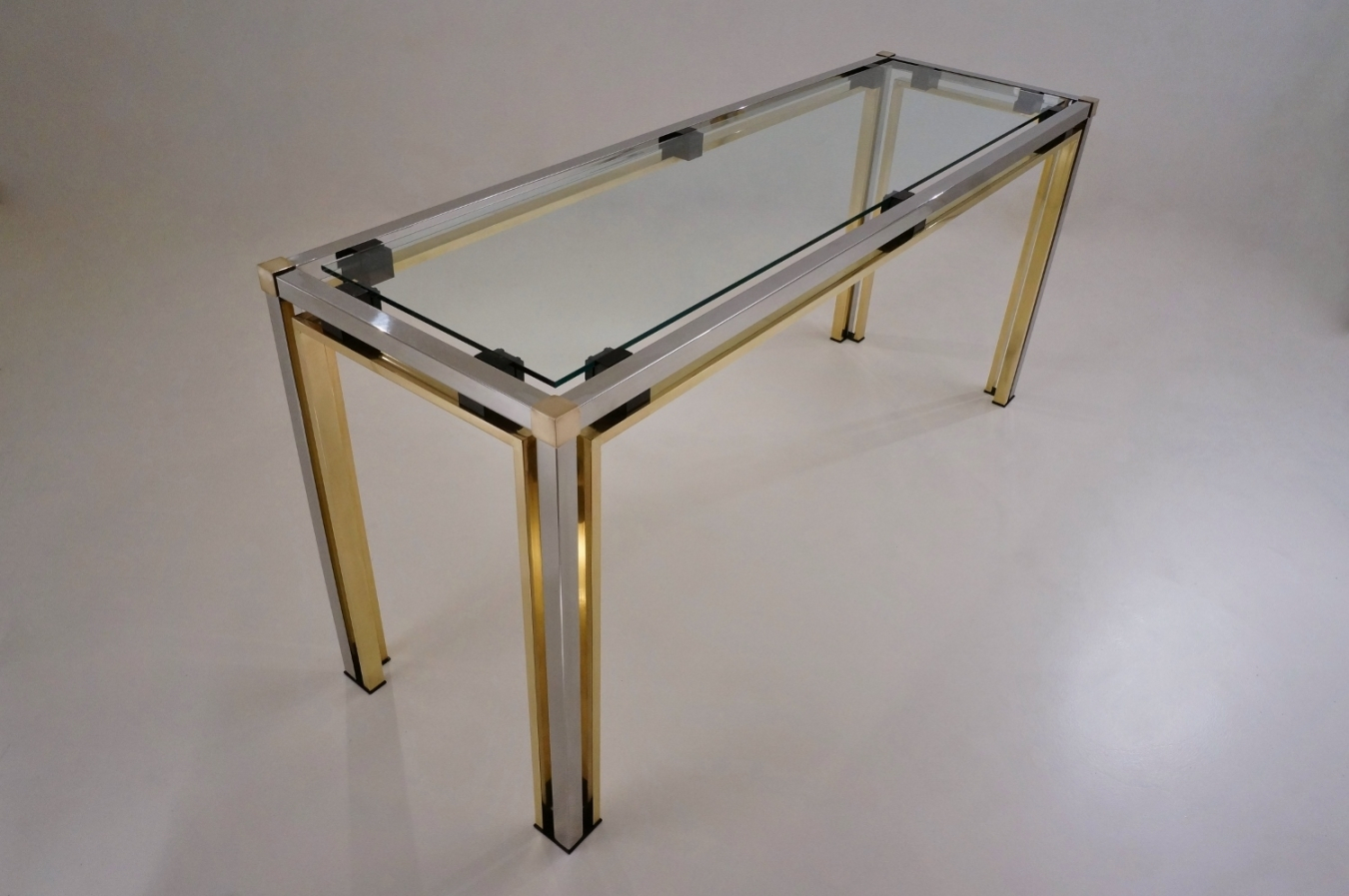 Romeo Rega Console Table | Trendfirst in Mix Patina Metal Frame Console Tables (Image 22 of 30)