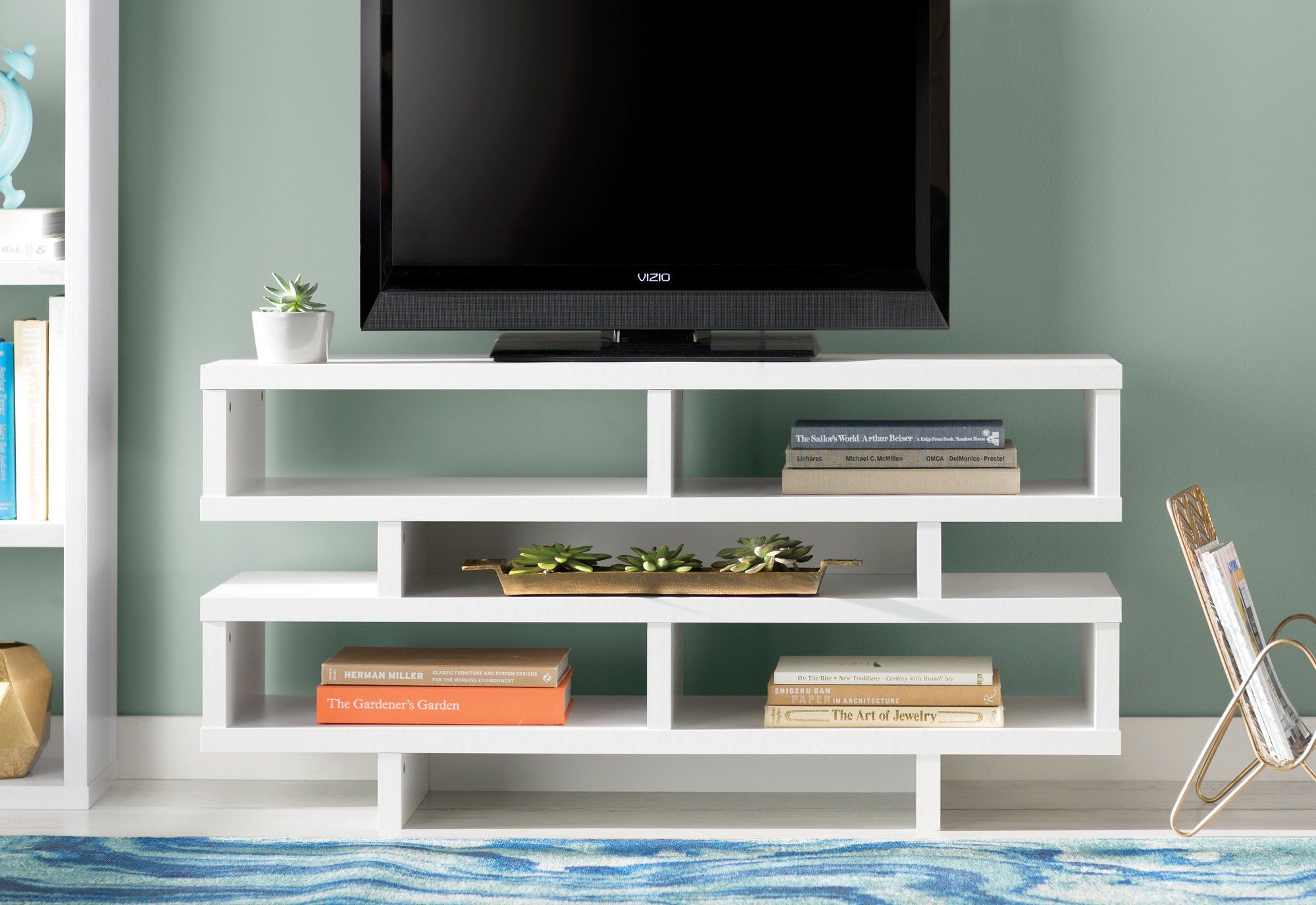 Rowan Media Console | Products | Pinterest | Tv Stands And Products Intended For Edwin Grey 64 Inch Tv Stands (View 3 of 30)