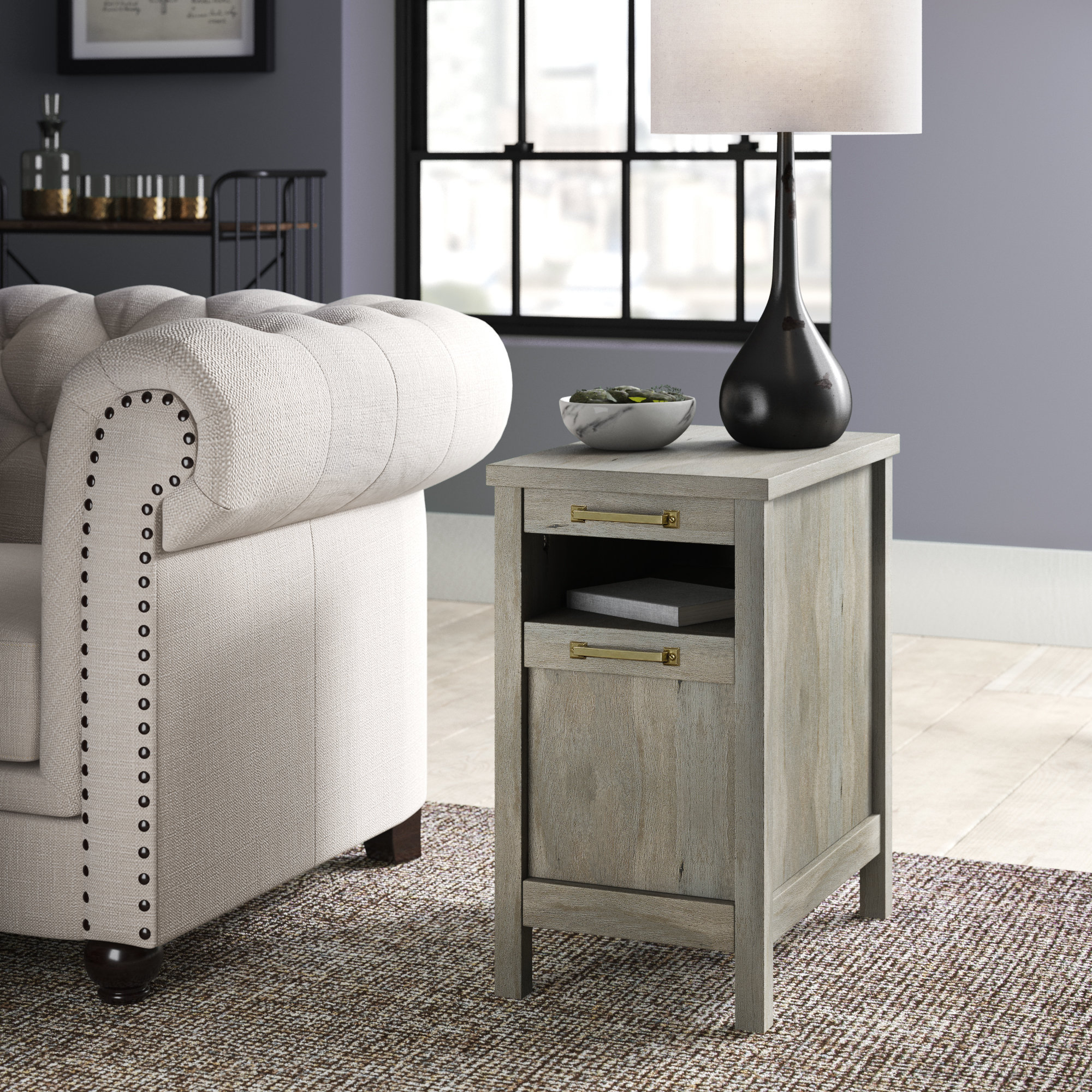 Rustic End & Side Tables You'll Love | Wayfair Pertaining To Kilian Grey 74 Inch Tv Stands (Gallery 15 of 30)