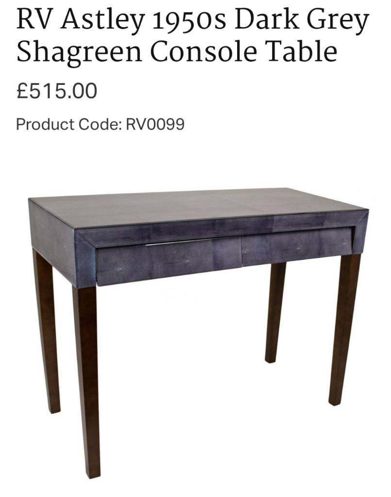 Rv Astley 1950s Dark Grey Shagreen Console Table Rrp £500 | In Ammanford, Carmarthenshire | Gumtree Throughout Grey Shagreen Media Console Tables (View 21 of 30)