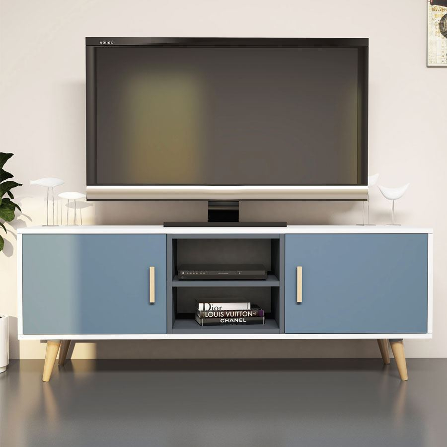 Safir Tv Ünitesi Beyaz Antrasit | Tv Üniteleri | Koçtaş With Cato 60 Inch Tv Stands (View 5 of 30)
