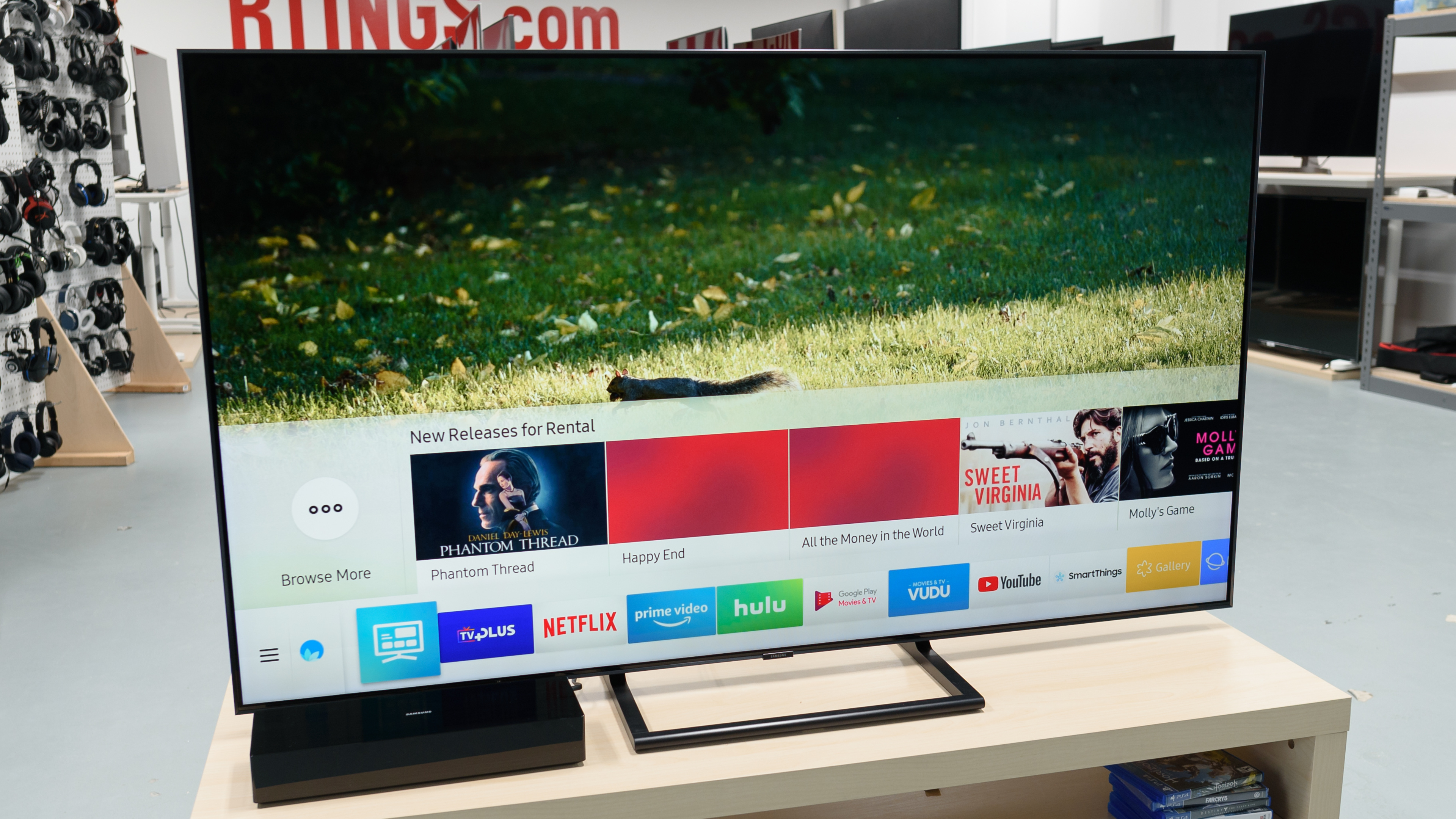 Samsung Q9Fn / Q9F Q9 2018 Review (Qn65Q9Fn, Qn75Q9Fn) – Rtings With Regard To Casey Grey 74 Inch Tv Stands (View 10 of 30)