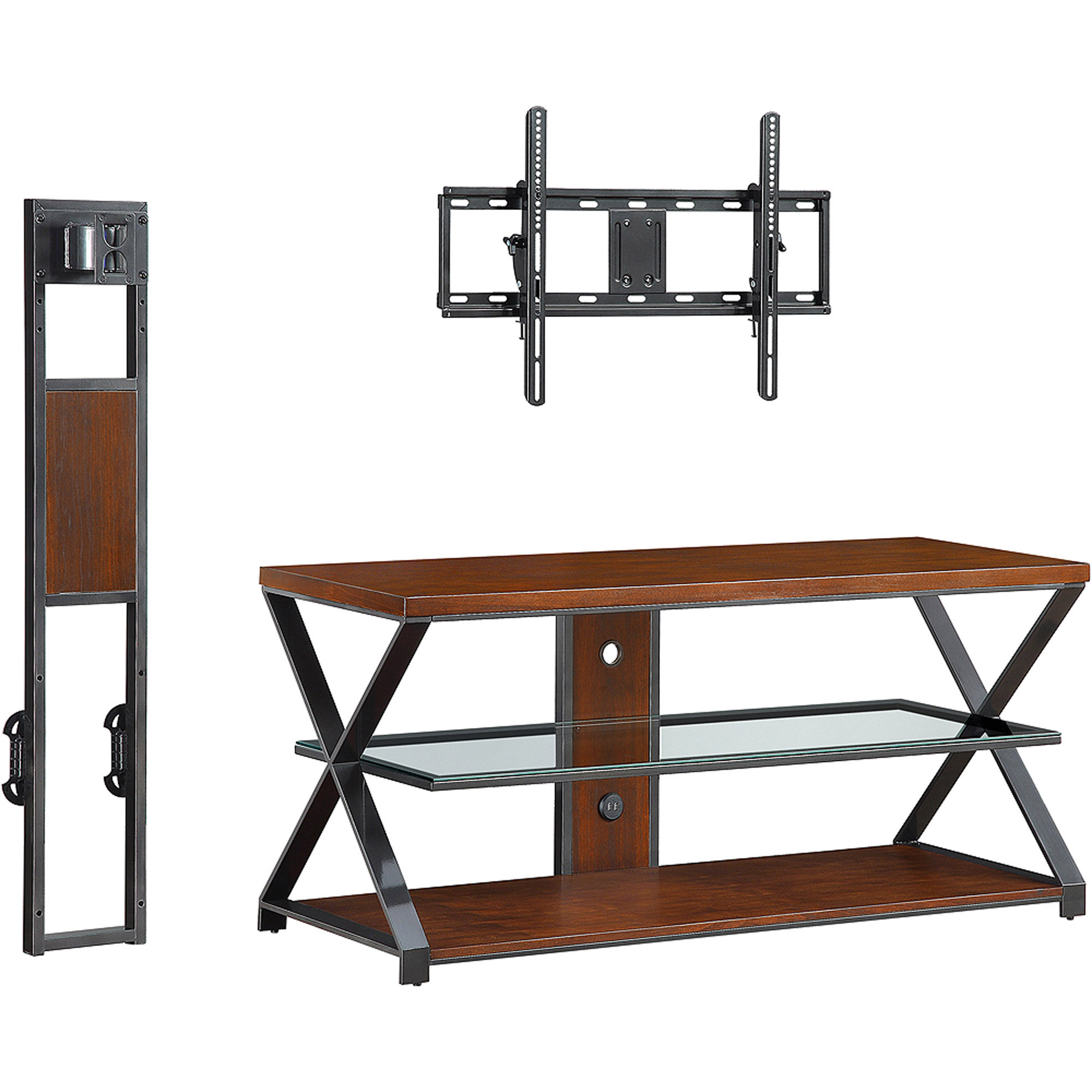 Sarah Tv Stands: Jaxon 3-In-1 Cognac Tv Stand For Tvs Up To 70'' regarding Jaxon 65 Inch Tv Stands (Image 23 of 30)