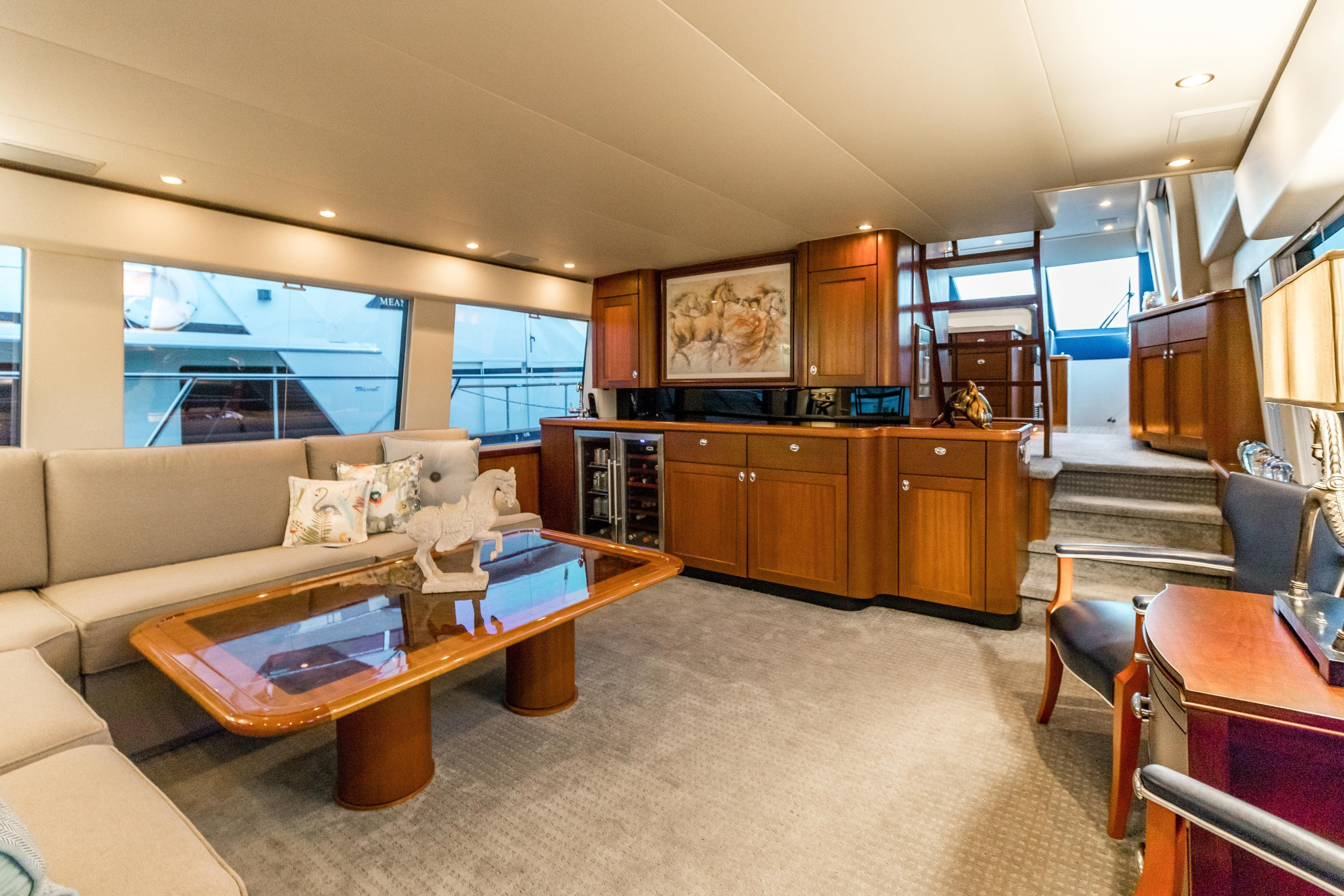 Searenity Pacific Mariner 2003 65 Motoryacht 65 Yacht For Sale In Us Intended For Mikelson Media Console Tables (View 10 of 30)