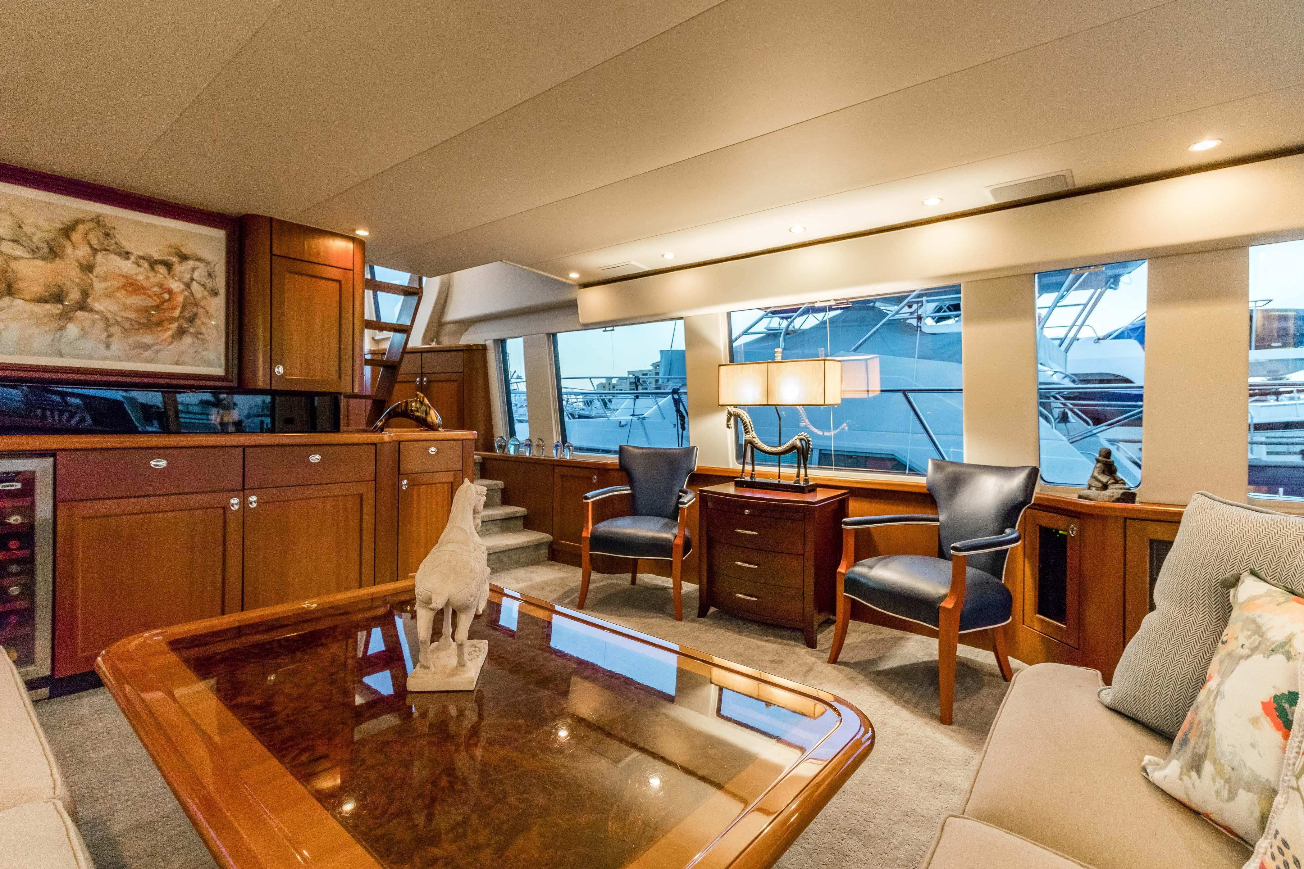 Searenity Pacific Mariner 2003 65 Motoryacht 65 Yacht For Sale In Us with Mikelson Media Console Tables (Image 24 of 30)