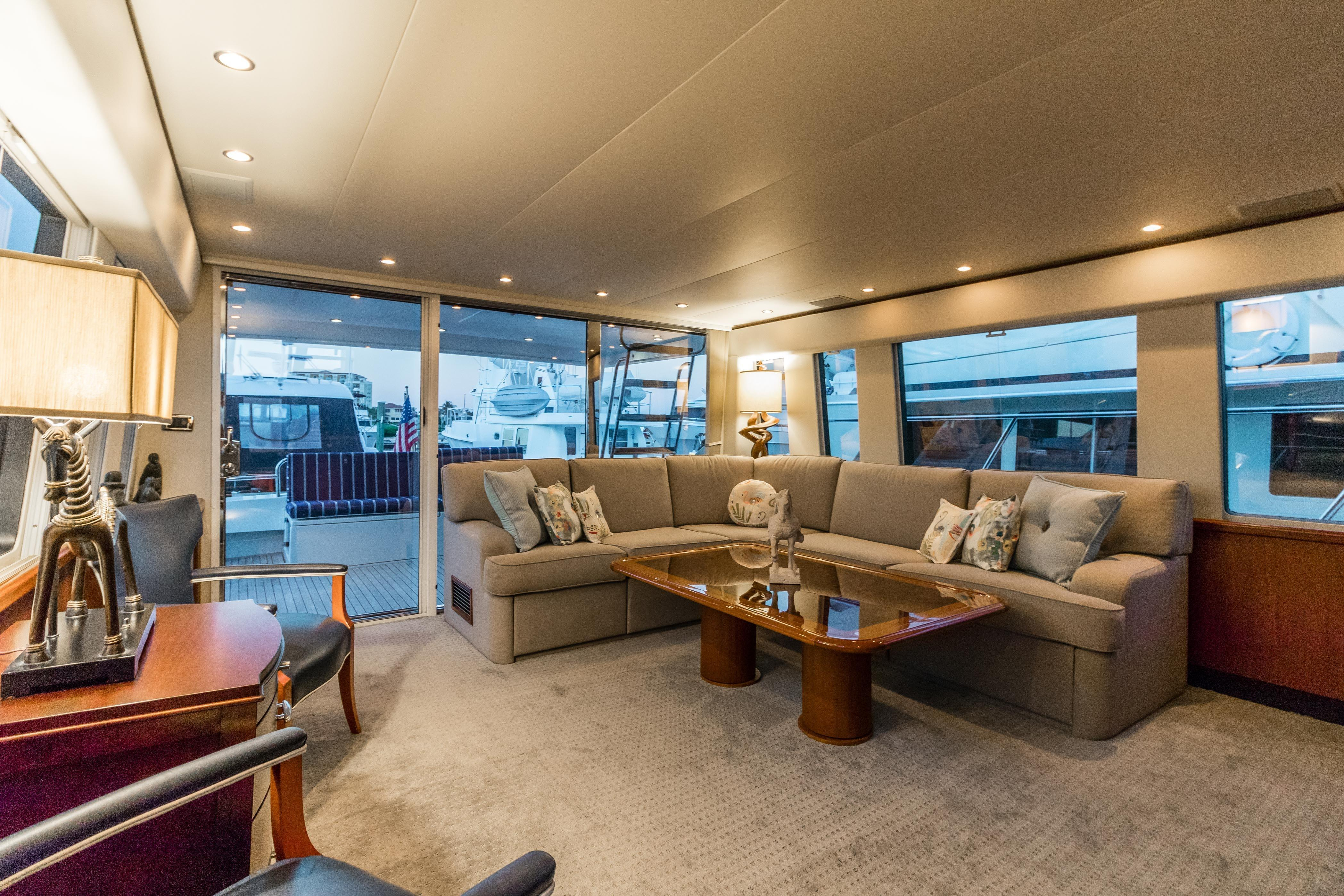 Searenity Pacific Mariner 2003 65 Motoryacht 65 Yacht For Sale In Us with Mikelson Media Console Tables (Image 25 of 30)
