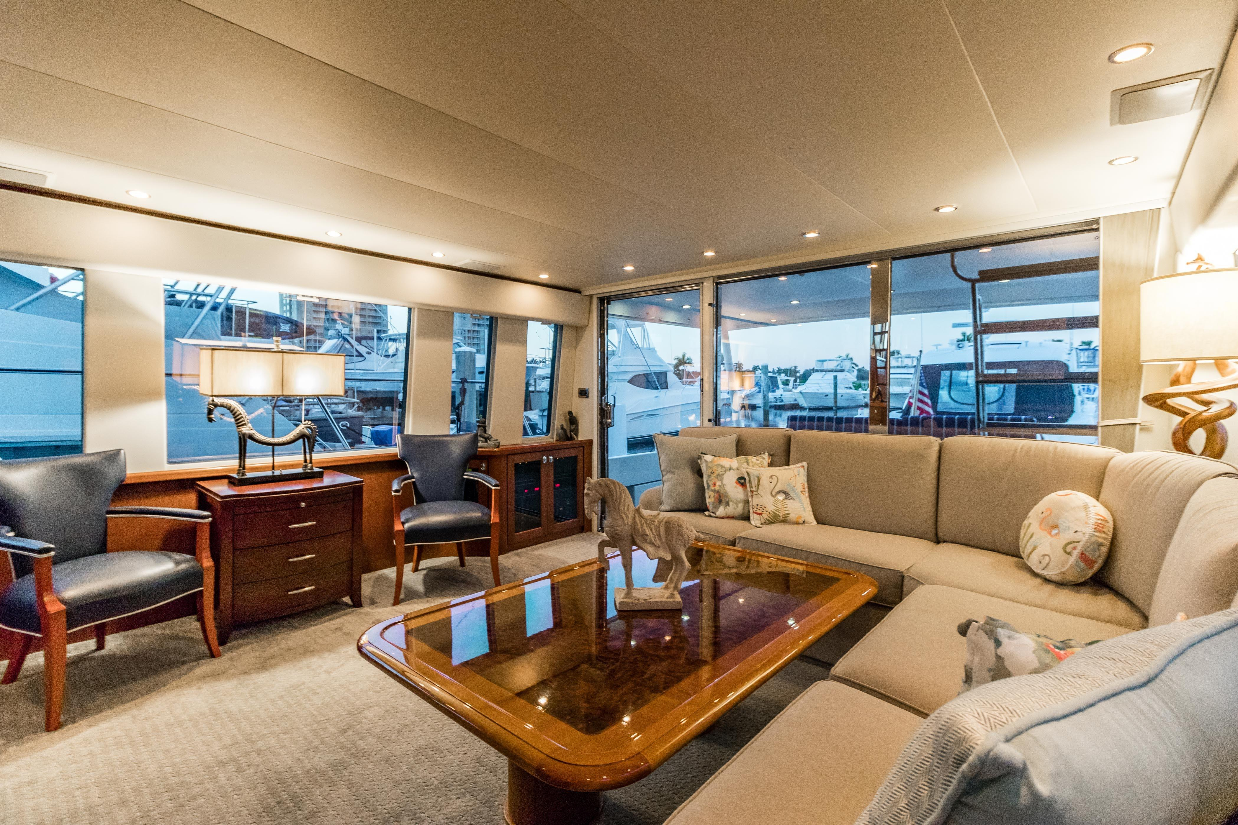 Searenity Pacific Mariner 2003 65 Motoryacht 65 Yacht For Sale In Us with Mikelson Media Console Tables (Image 23 of 30)