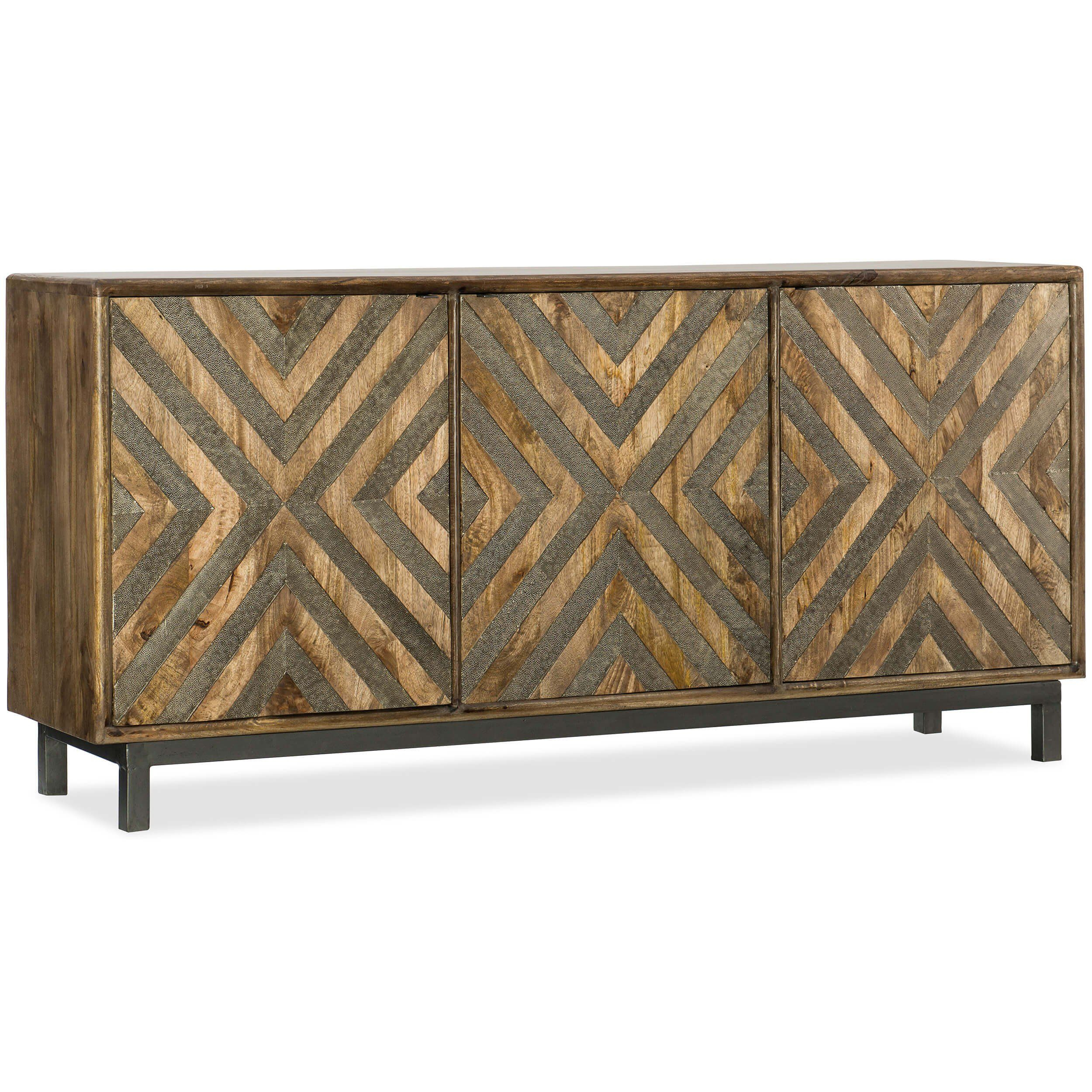 Serramonte Entertainment Console | Pinterest | Consoles, Modern With Regard To Parsons White Marble Top & Stainless Steel Base 48x16 Console Tables (View 16 of 30)
