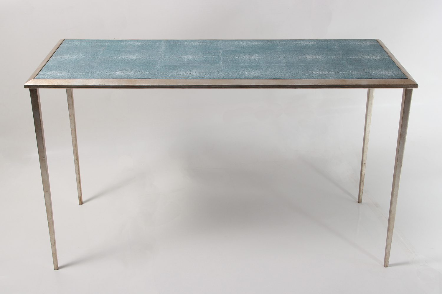 Shagreen Console Table Wood : Console Table – Shagreen Console Table Intended For Grey Shagreen Media Console Tables (View 17 of 30)