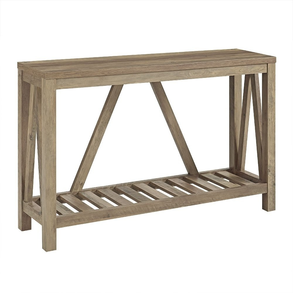 """Shop 52"""" A Frame Entry Console Table – 52 X 14 X 32h – Free Shipping For Frame Console Tables (View 21 of 30)"""