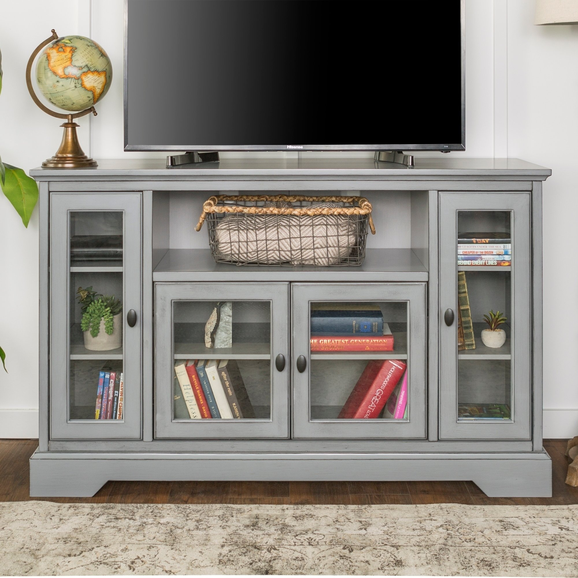 """Shop 52"""" Highboy Tv Stand Console – 52 X 16 X 33H – Free Shipping Within Century Sky 60 Inch Tv Stands (View 19 of 30)"""