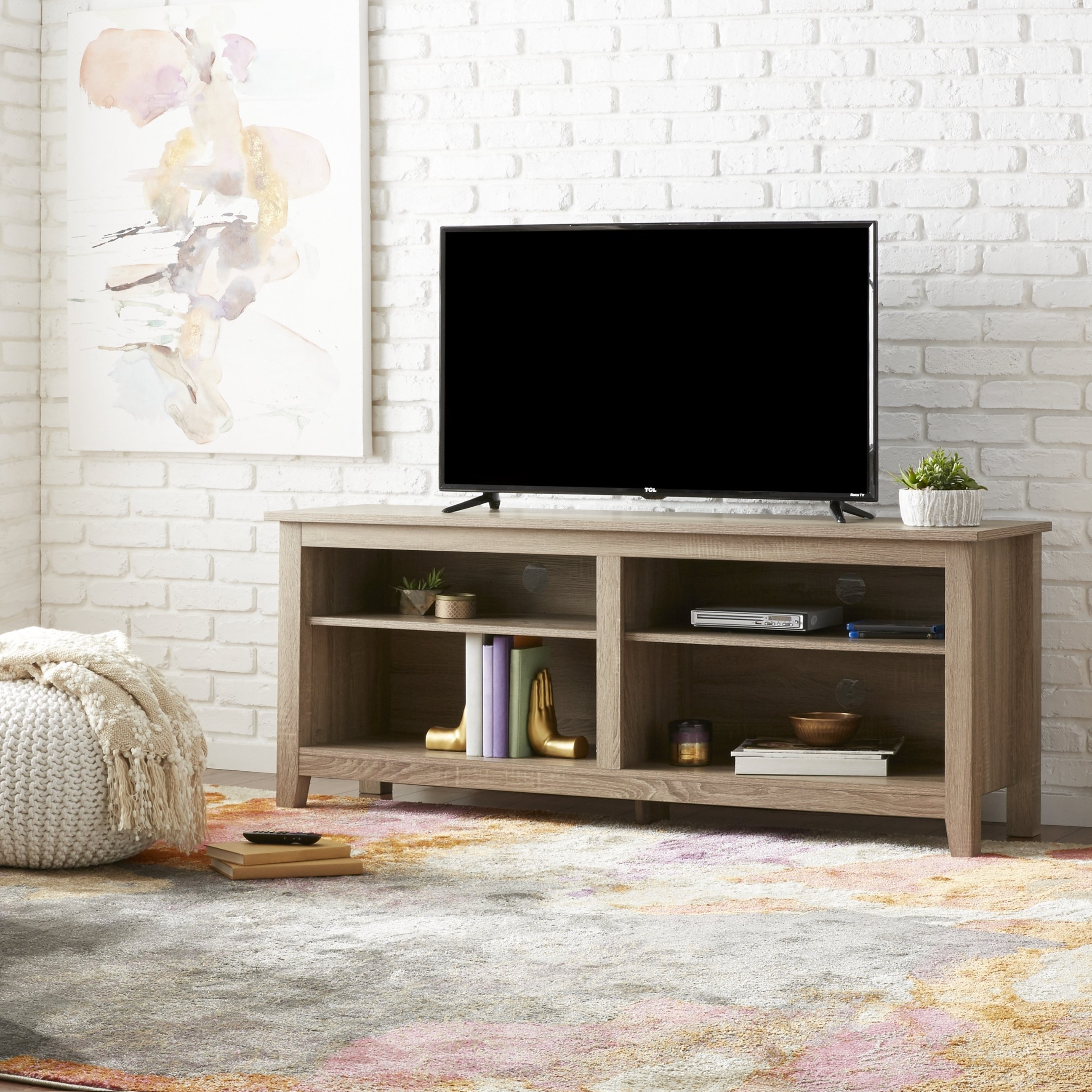 Shop 58 Inch Driftwood Tv Stand – Free Shipping On Orders Over $45 Regarding Abbott Driftwood 60 Inch Tv Stands (View 3 of 30)