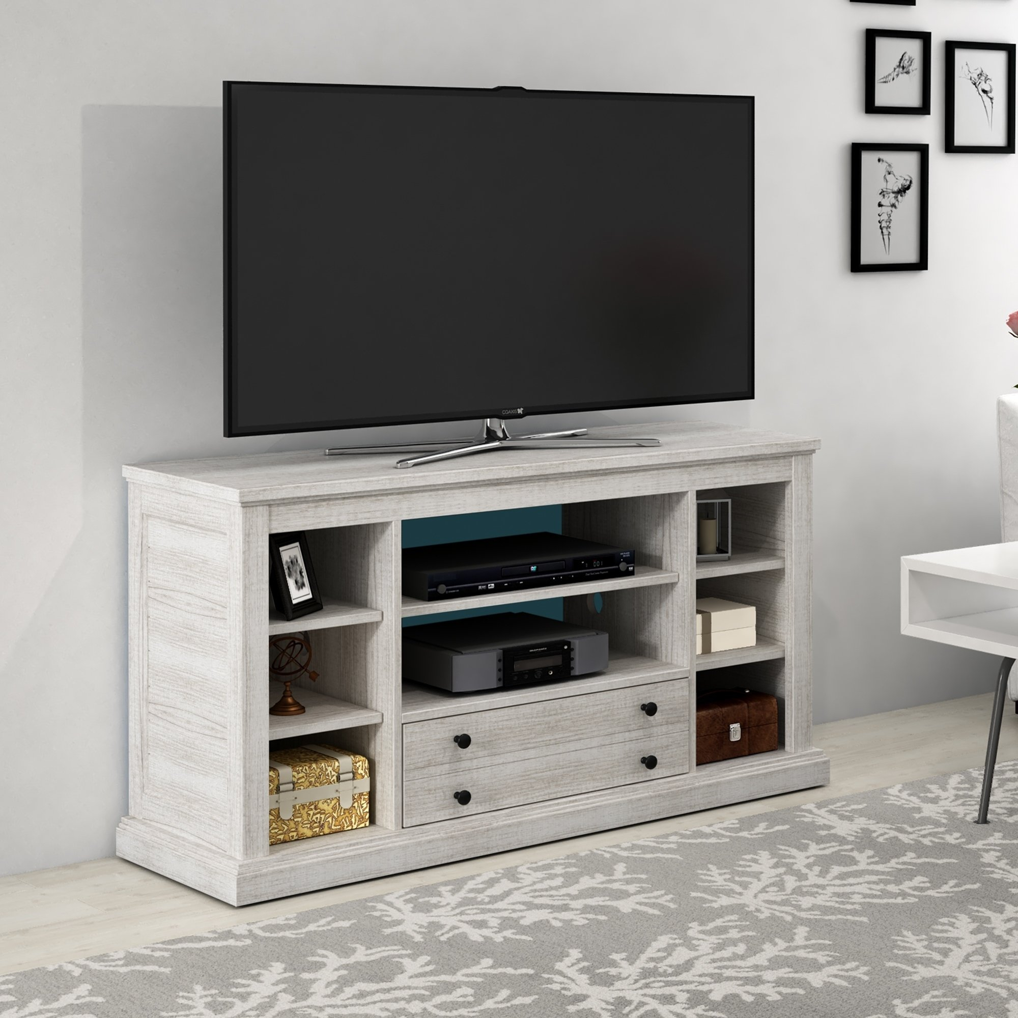 "Shop Abbott Commons Tv Stand For Tvs Up To 55"", Sargent Oak - Free with regard to Abbot 60 Inch Tv Stands (Image 22 of 30)"