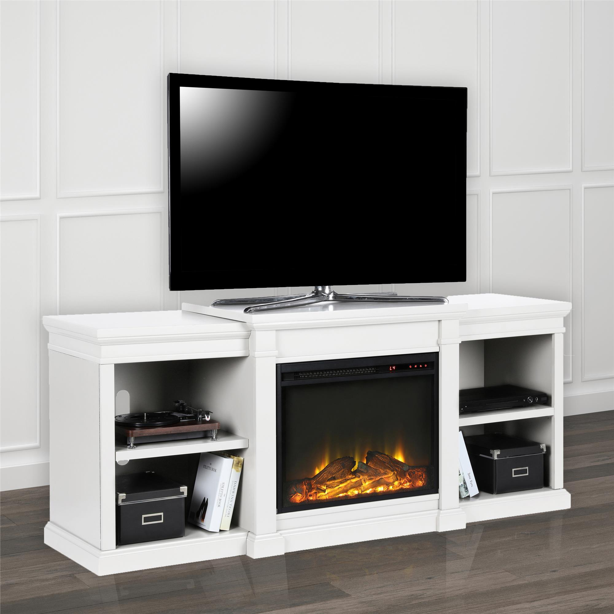Shop Avenue Greene Anderson Electric Fireplace Tv Stand For Tvs Up inside Oxford 84 Inch Tv Stands (Image 23 of 30)