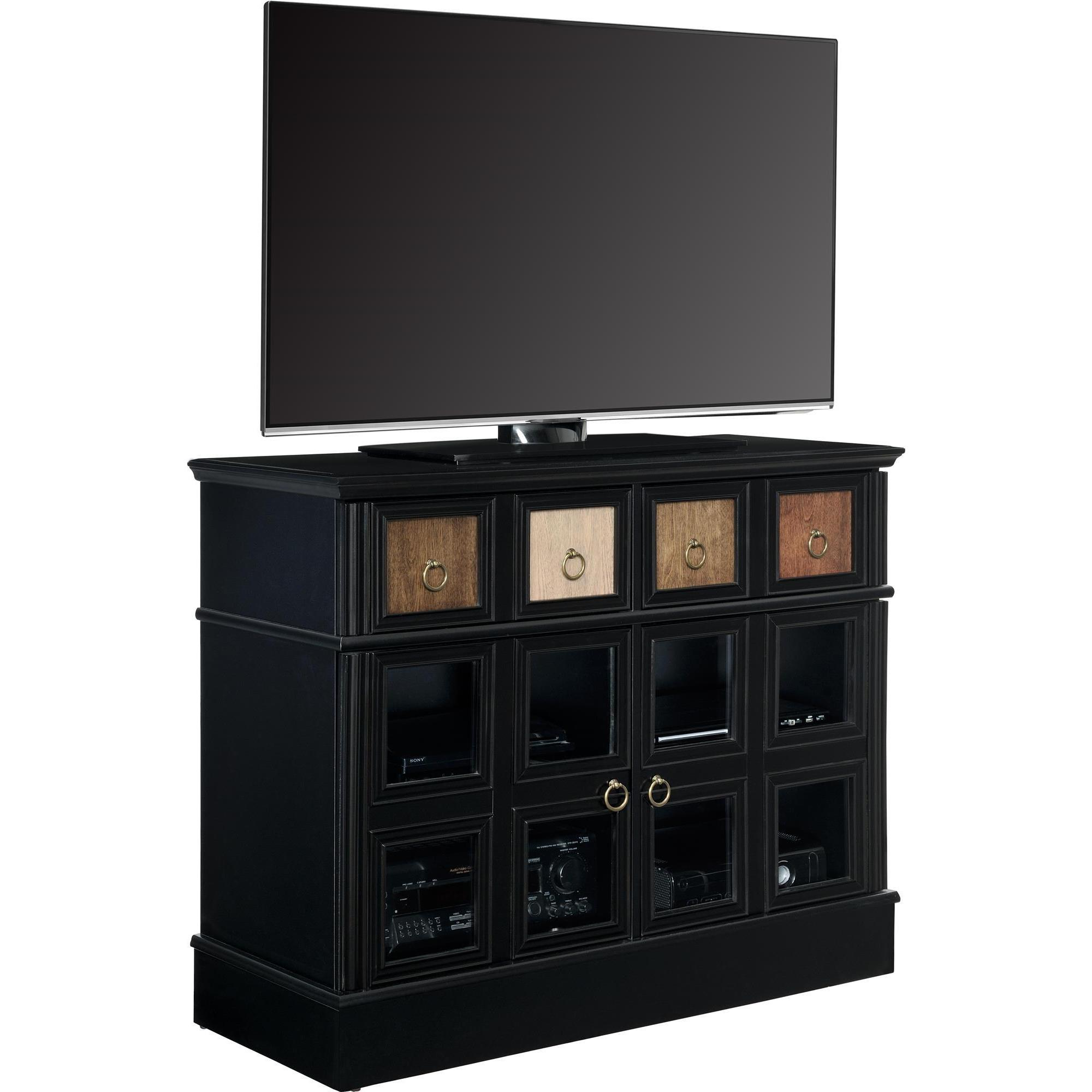 Shop Avenue Greene Wakefield Apothecary 42 Inch Black Tv Console For Wakefield 97 Inch Tv Stands (View 8 of 30)