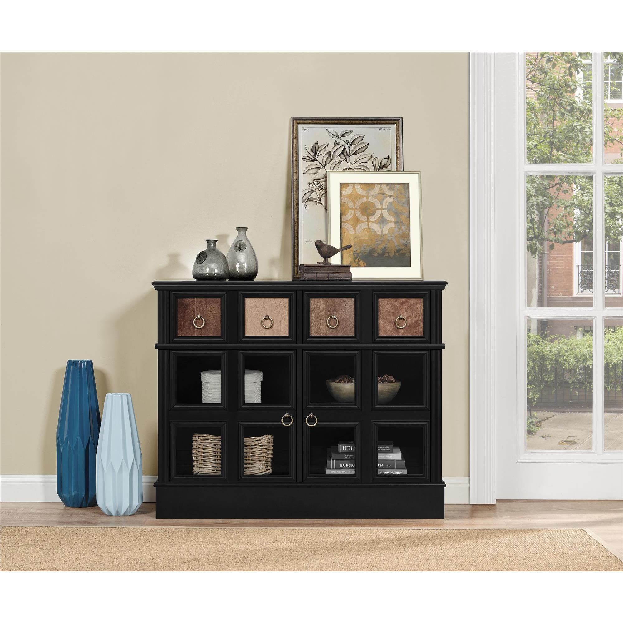Shop Avenue Greene Wakefield Apothecary 42 Inch Black Tv Console Regarding Wakefield 97 Inch Tv Stands (View 24 of 30)