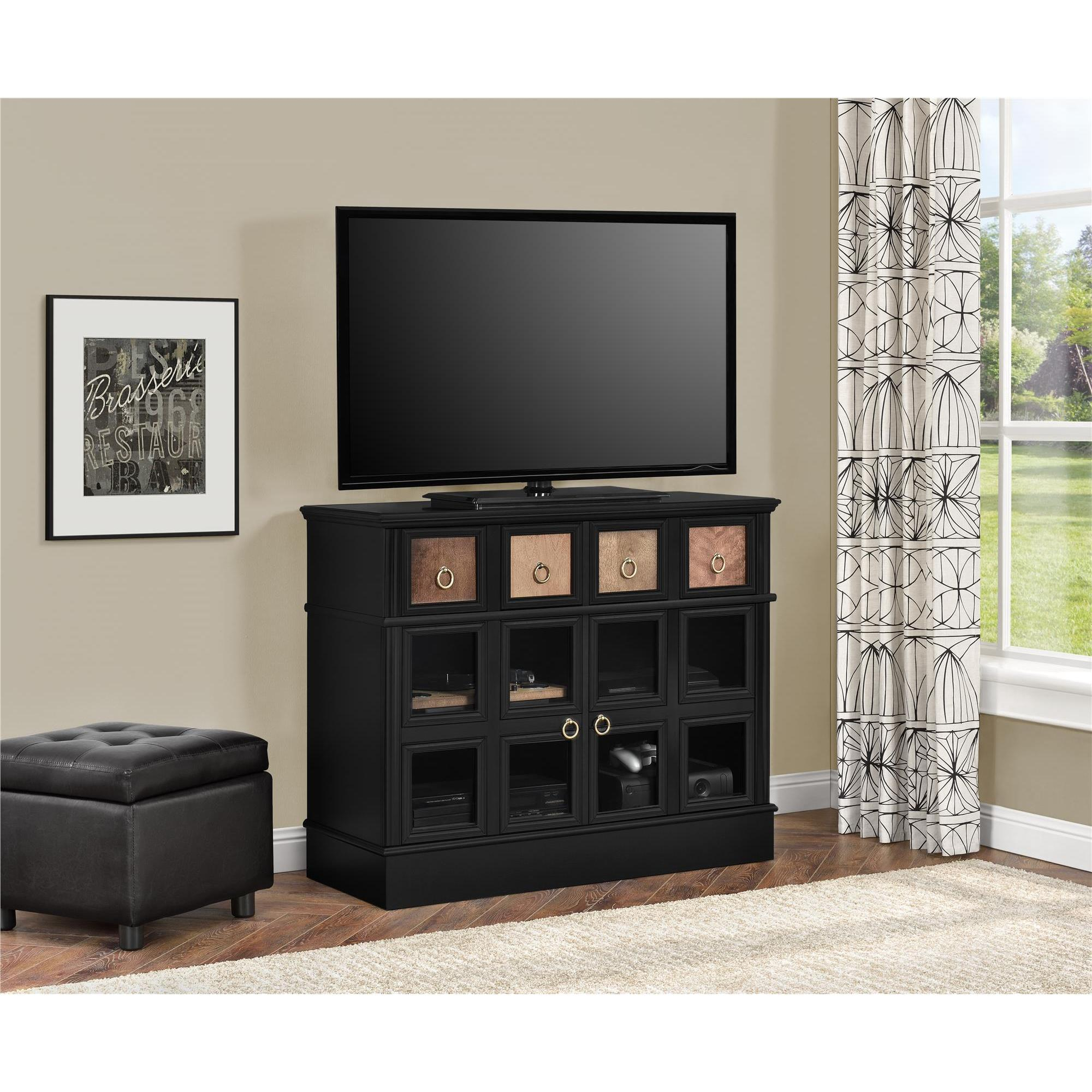 Shop Avenue Greene Wakefield Apothecary 42 Inch Black Tv Console Throughout Wakefield 97 Inch Tv Stands (View 6 of 30)