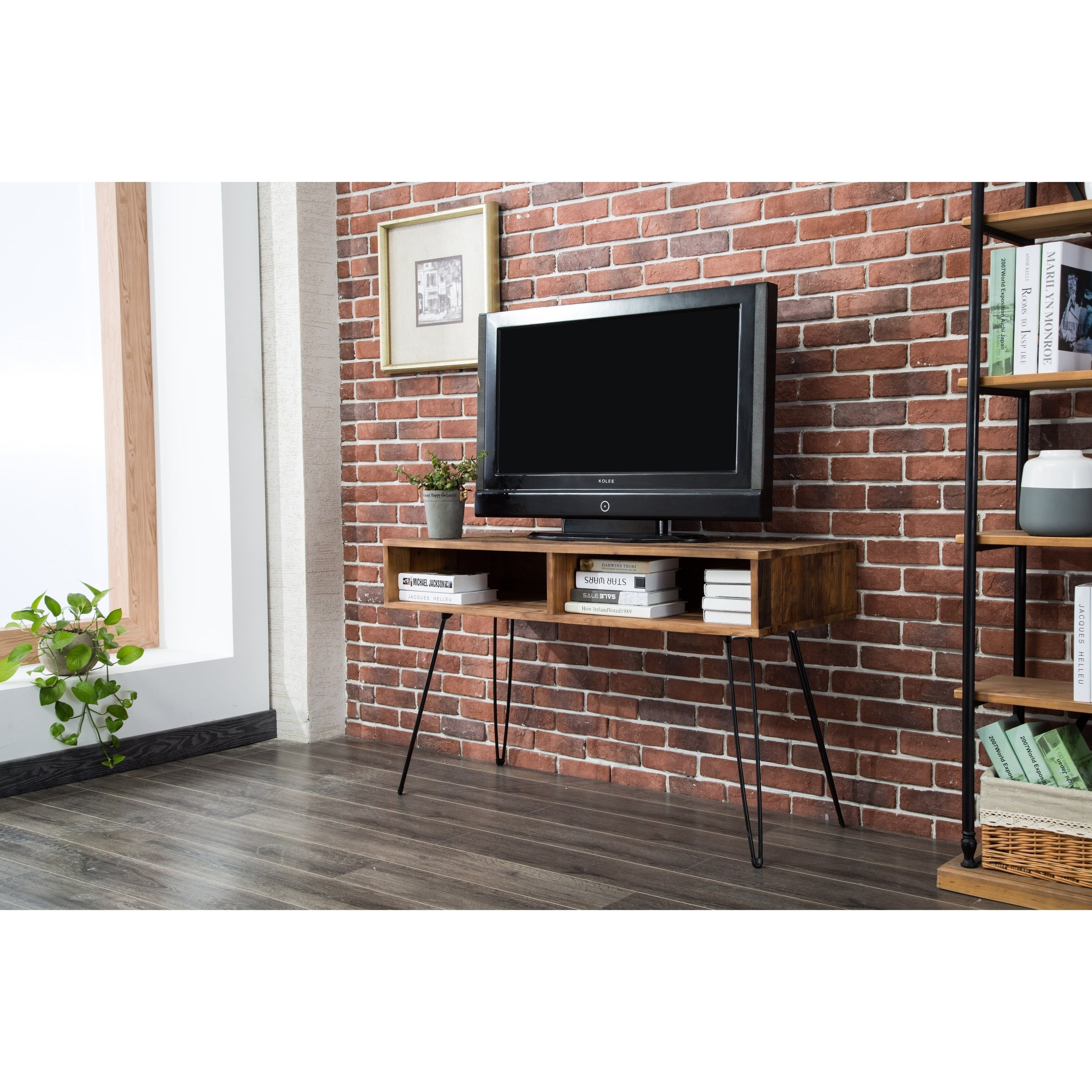 Shop Carbon Loft Lee Reclaimed Fir 48-Inch Tv Stand - Free Shipping in Century Sky 60 Inch Tv Stands (Image 25 of 30)