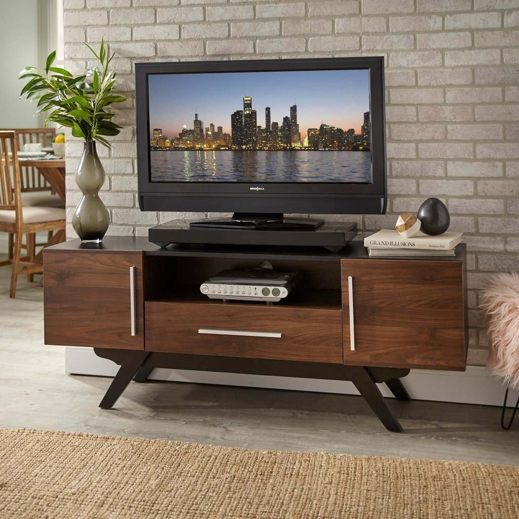 Shop Carson Carrington Arendal Mid Century Tv Stand – Free Shipping For Century Blue 60 Inch Tv Stands (View 8 of 30)