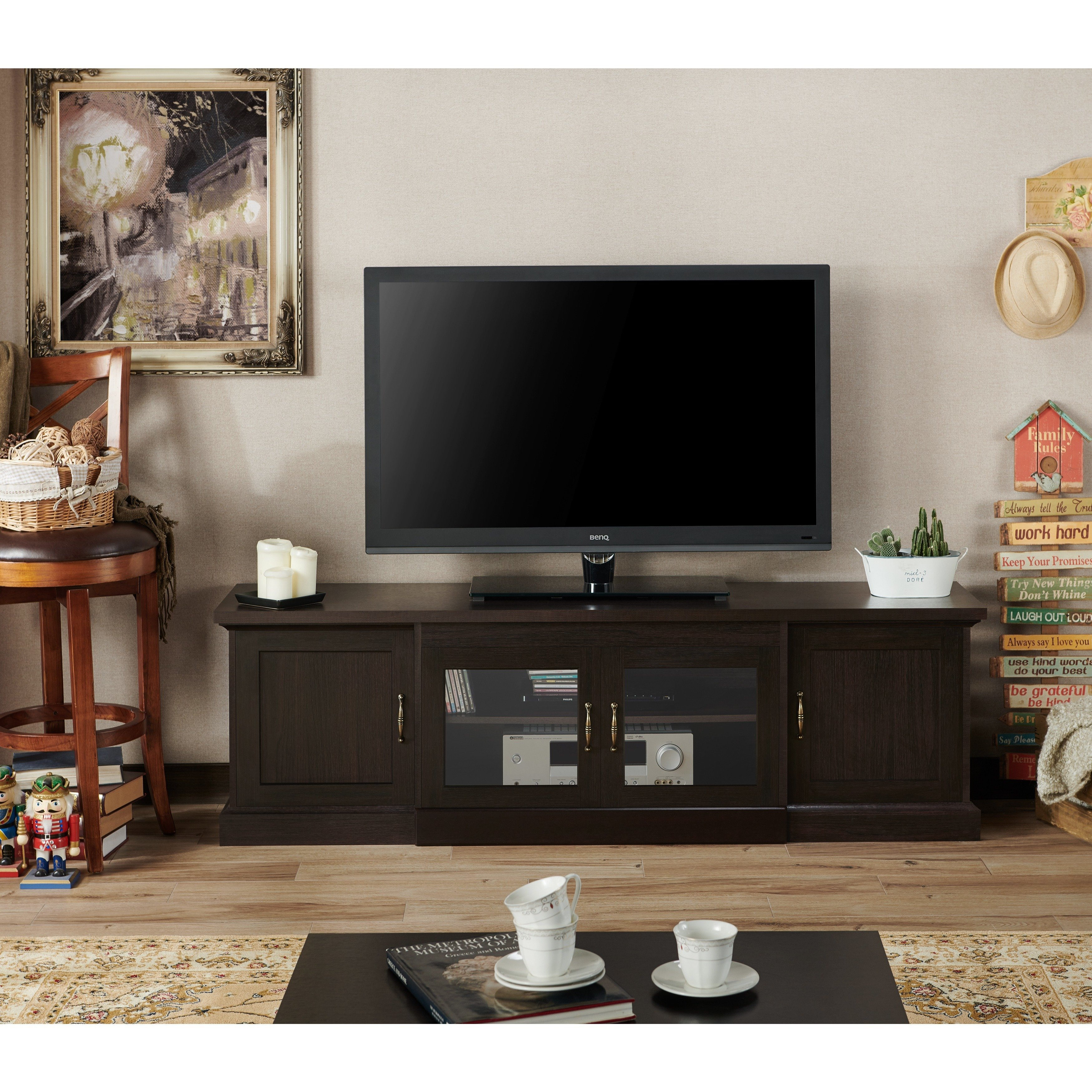 Shop Furniture Of America Walder 68 Inch Tv Stand – On Sale – Free In Casey Grey 74 Inch Tv Stands (View 18 of 30)