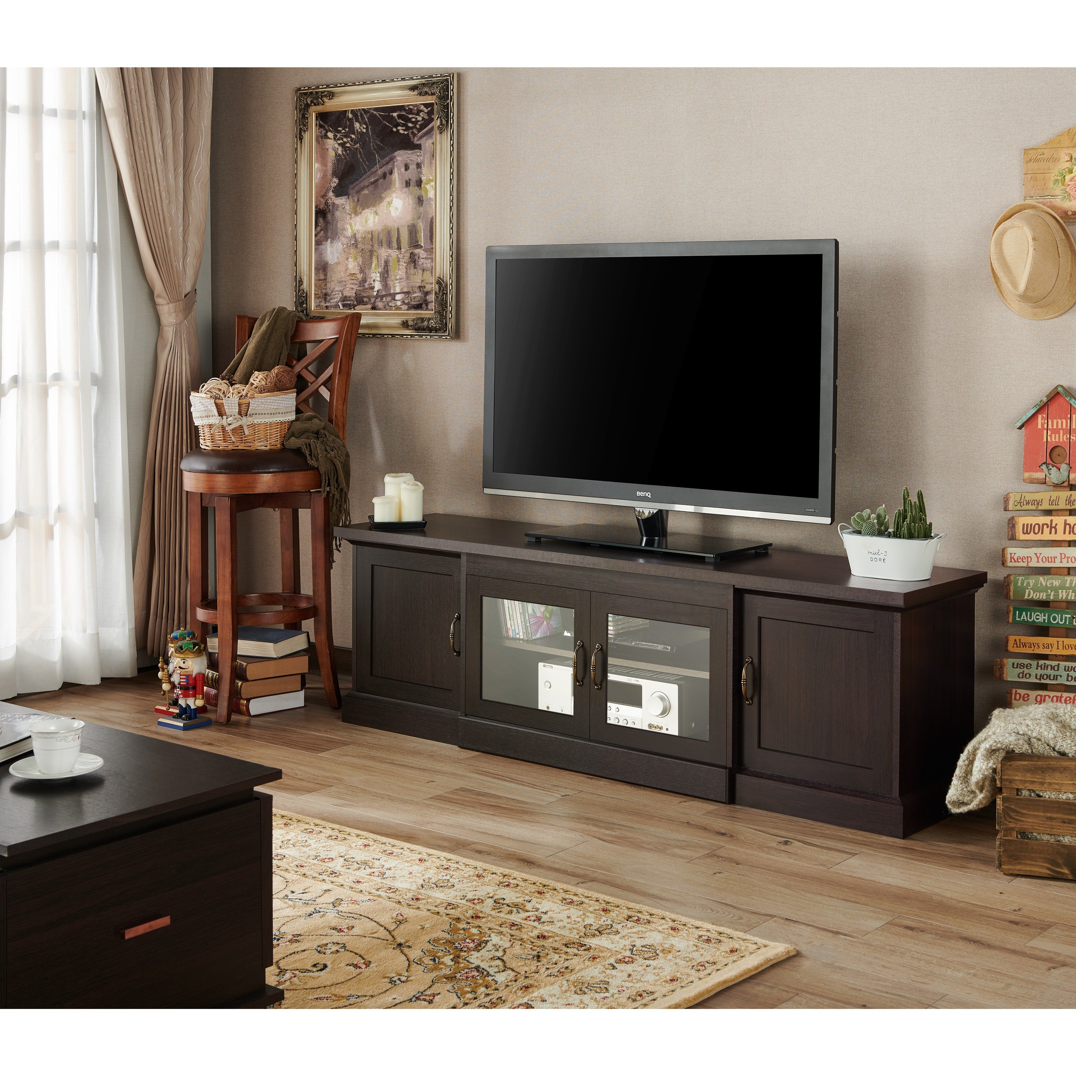 Shop Furniture Of America Walder 68 Inch Tv Stand – On Sale – Free With Regard To Casey Grey 74 Inch Tv Stands (View 20 of 30)