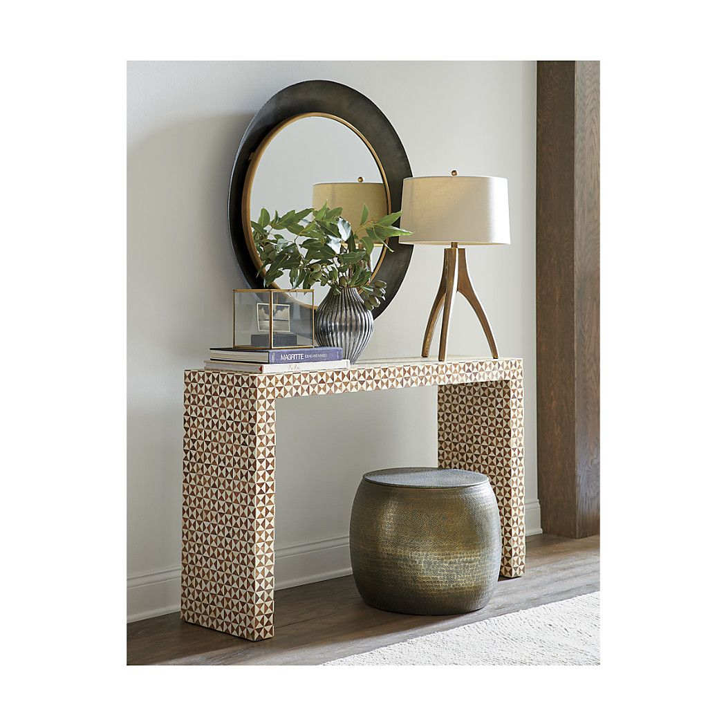 Shop Intarsia Bone Inlay Console Table (View 23 of 30)