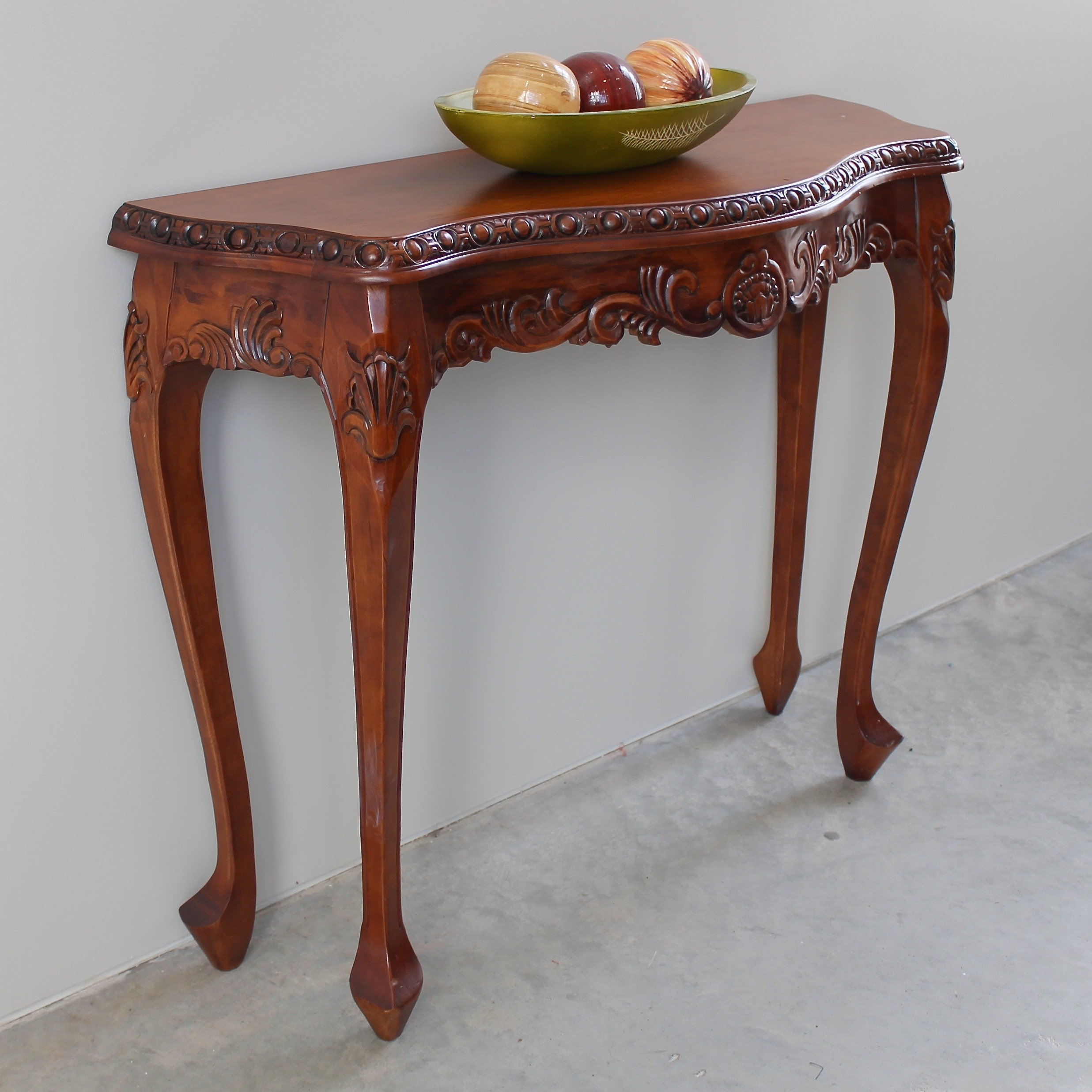 Shop International Caravan Windsor Carved Console Table – Free With Regard To Hand Carved White Wash Console Tables (View 10 of 30)