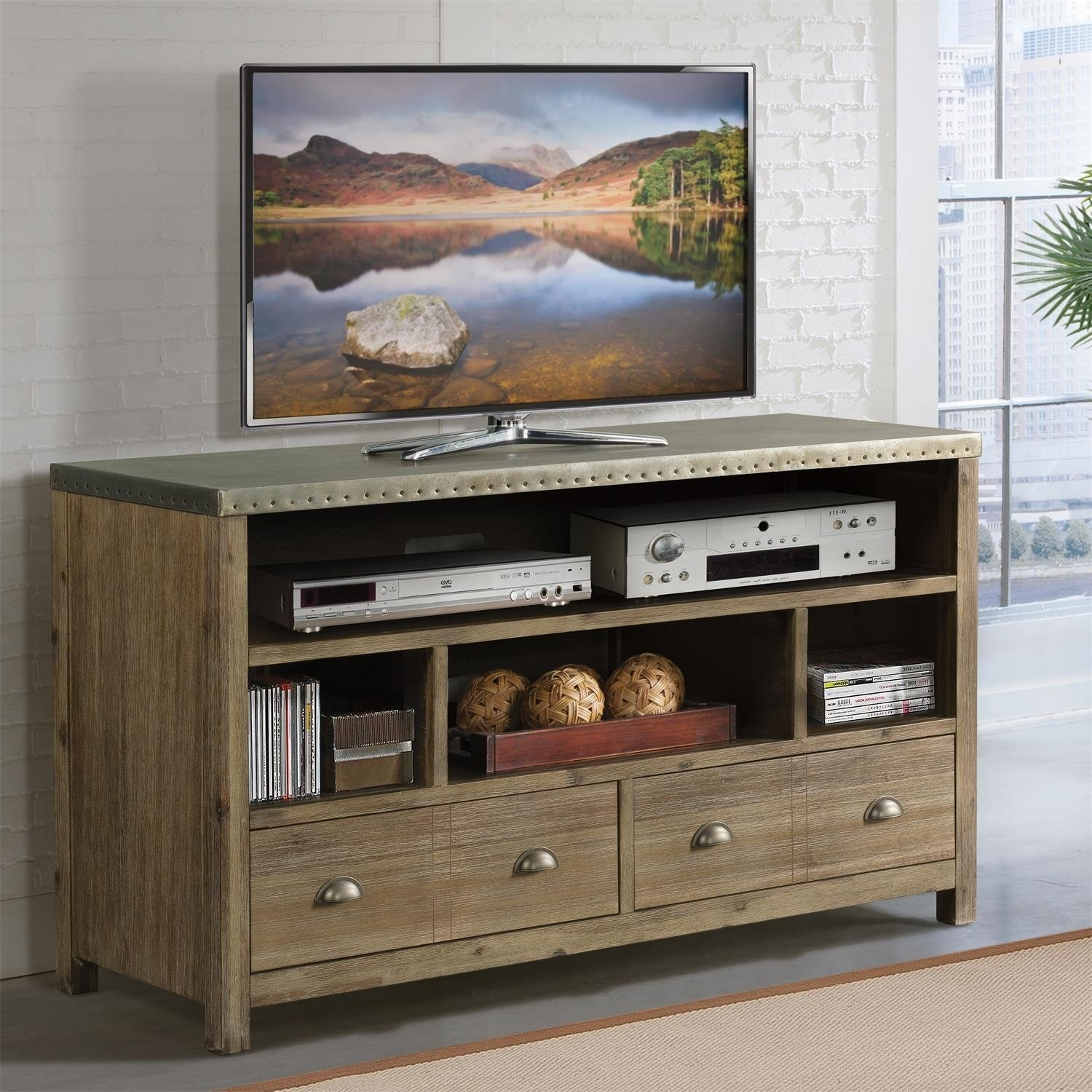 Shop Liam 54 Inch Tv Console – 54 Inches – Free Shipping Today Throughout Canyon 54 Inch Tv Stands (View 7 of 30)