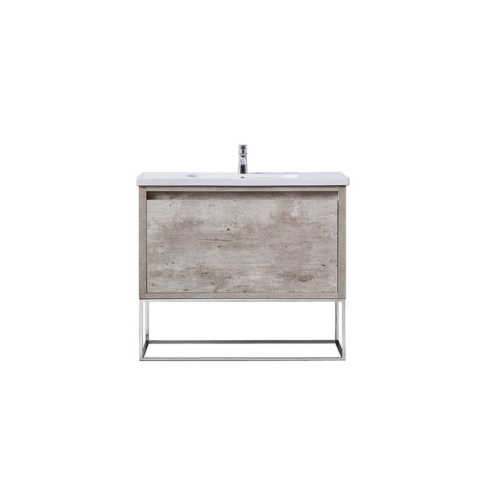 Shop Ove Decors Ava Modern Burnt Oak 40 Inch Vanity With Integrated Inside Burnt Oak Metal Sideboards (View 6 of 30)