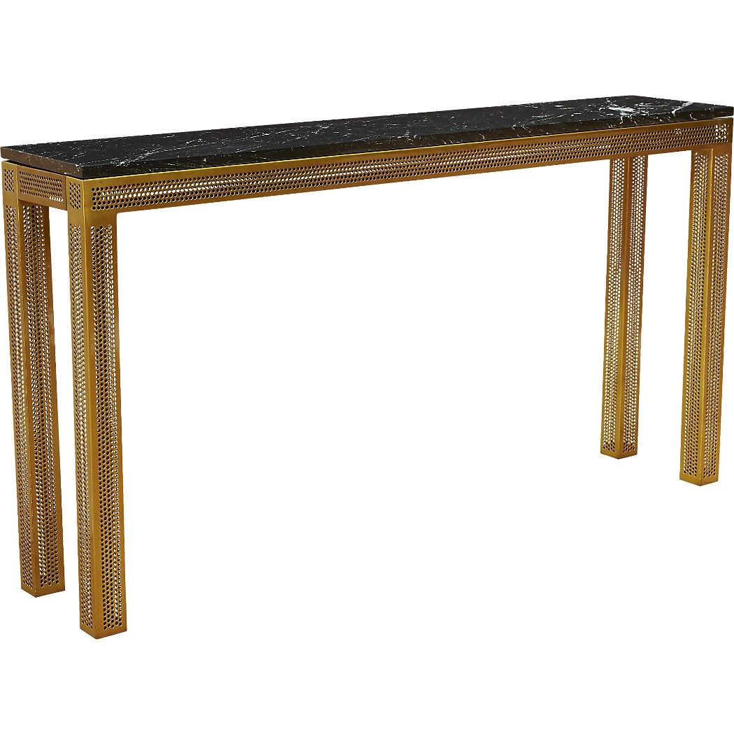 Shop Perforated Marble Console Table (View 4 of 30)