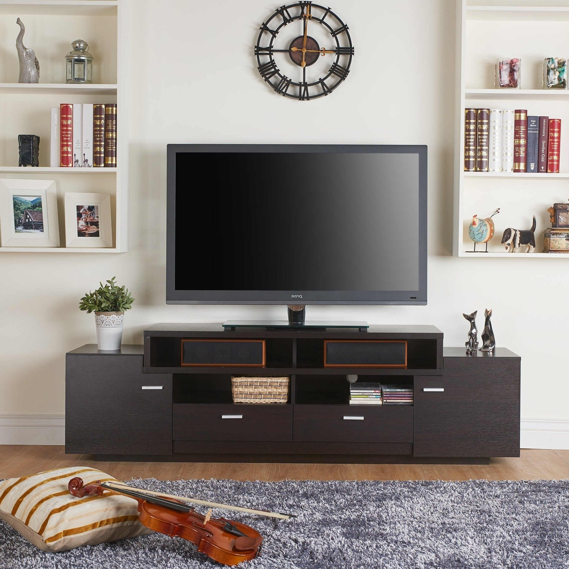 Shop Porch & Den Brickell 72 Inch Modern Tiered Tv Stand – On Sale Inside Laurent 60 Inch Tv Stands (View 19 of 30)