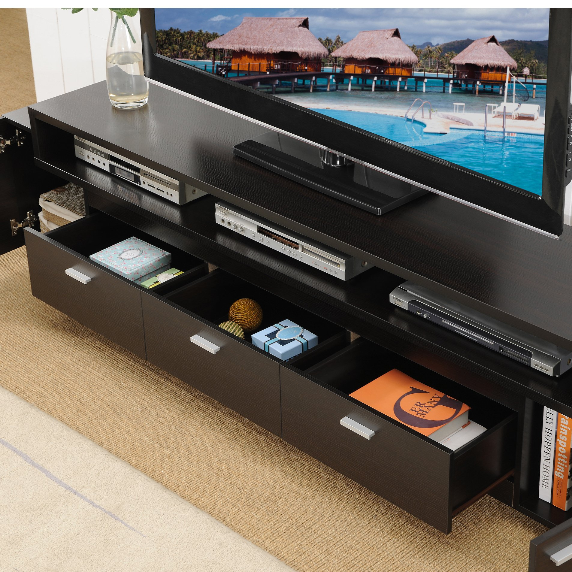 Shop Porch & Den Hubbard 84 Inch Tiered Tv Stand – On Sale – Free For Ducar 84 Inch Tv Stands (View 17 of 30)
