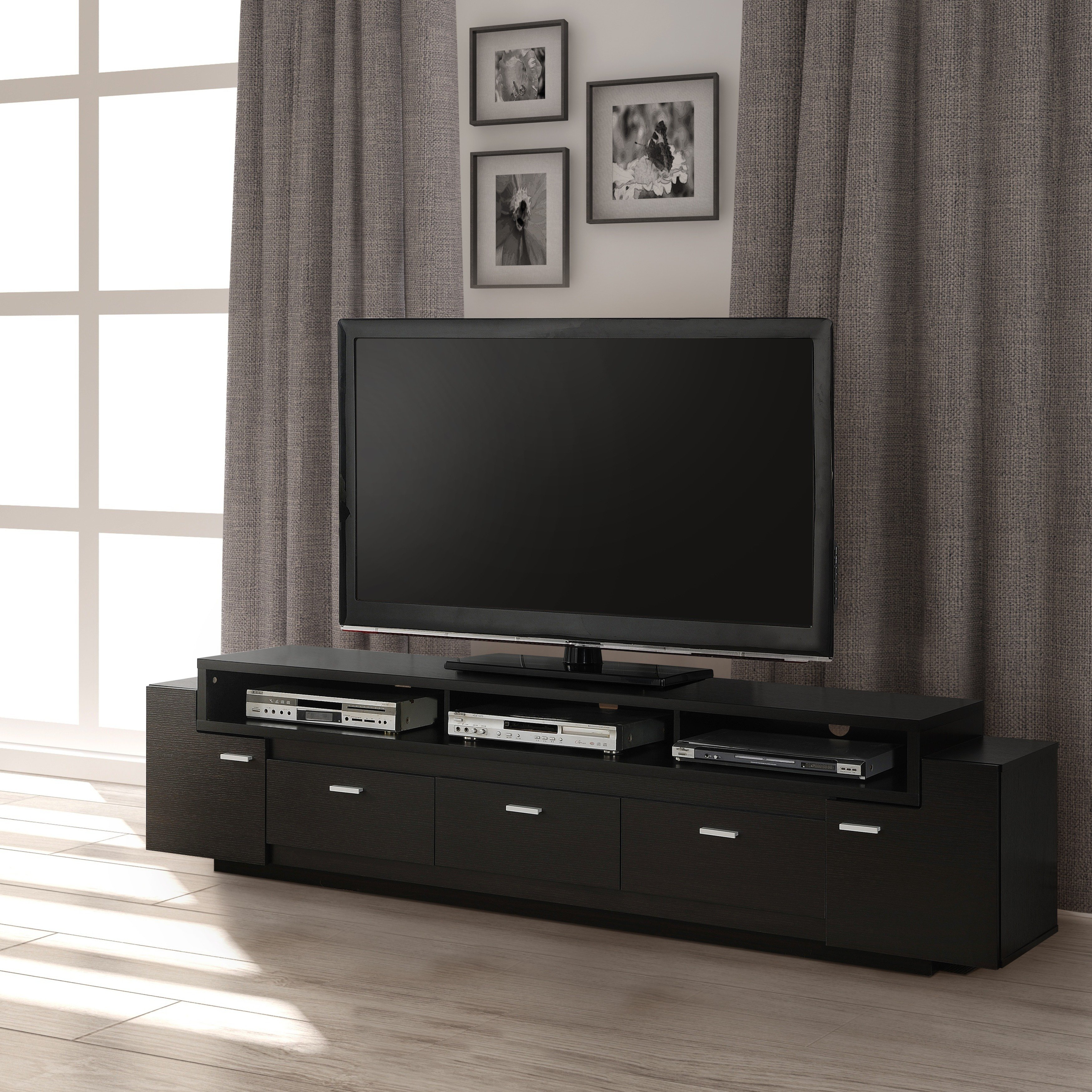 Shop Porch & Den Hubbard 84 Inch Tiered Tv Stand – On Sale – Free Intended For Ducar 84 Inch Tv Stands (View 7 of 30)