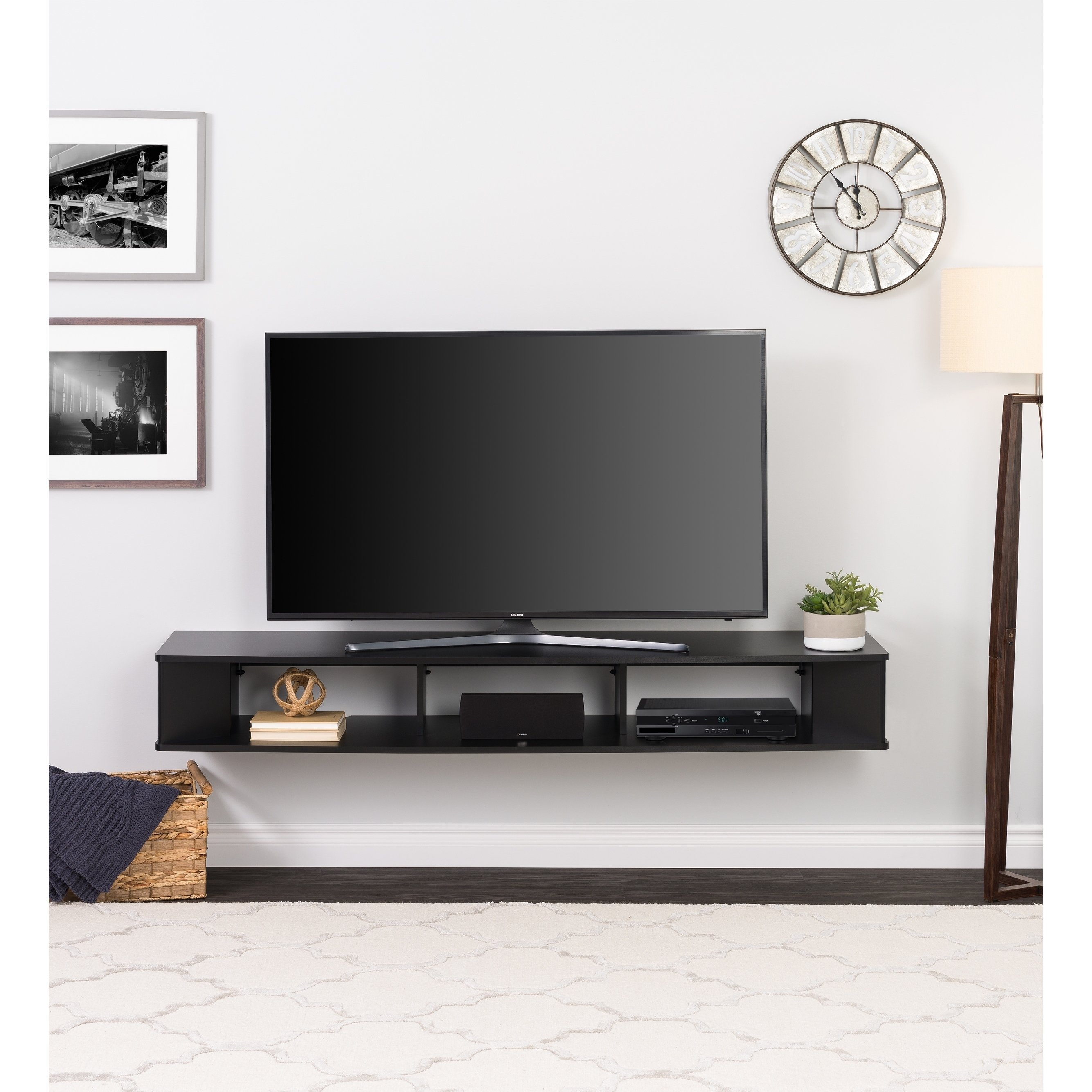 Shop Prepac 70 Inch Wide Wall Mounted Tv Stand - Free Shipping Today intended for Century Sky 60 Inch Tv Stands (Image 27 of 30)