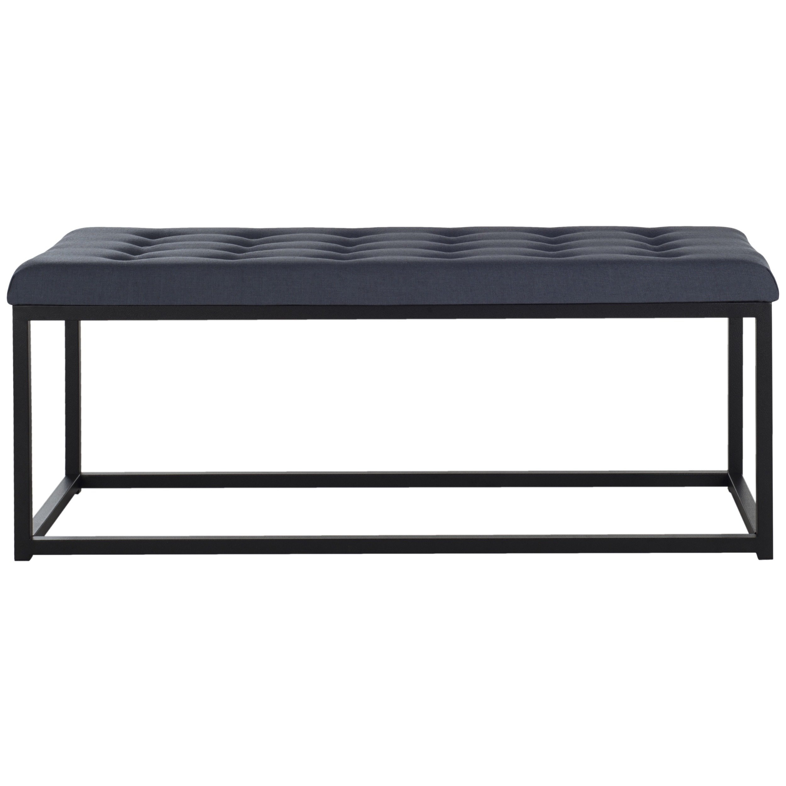 Shop Safavieh Reynlds Navy/ Black Bench – Free Shipping Today With Parsons Black Marble Top & Dark Steel Base 48x16 Console Tables (View 21 of 30)