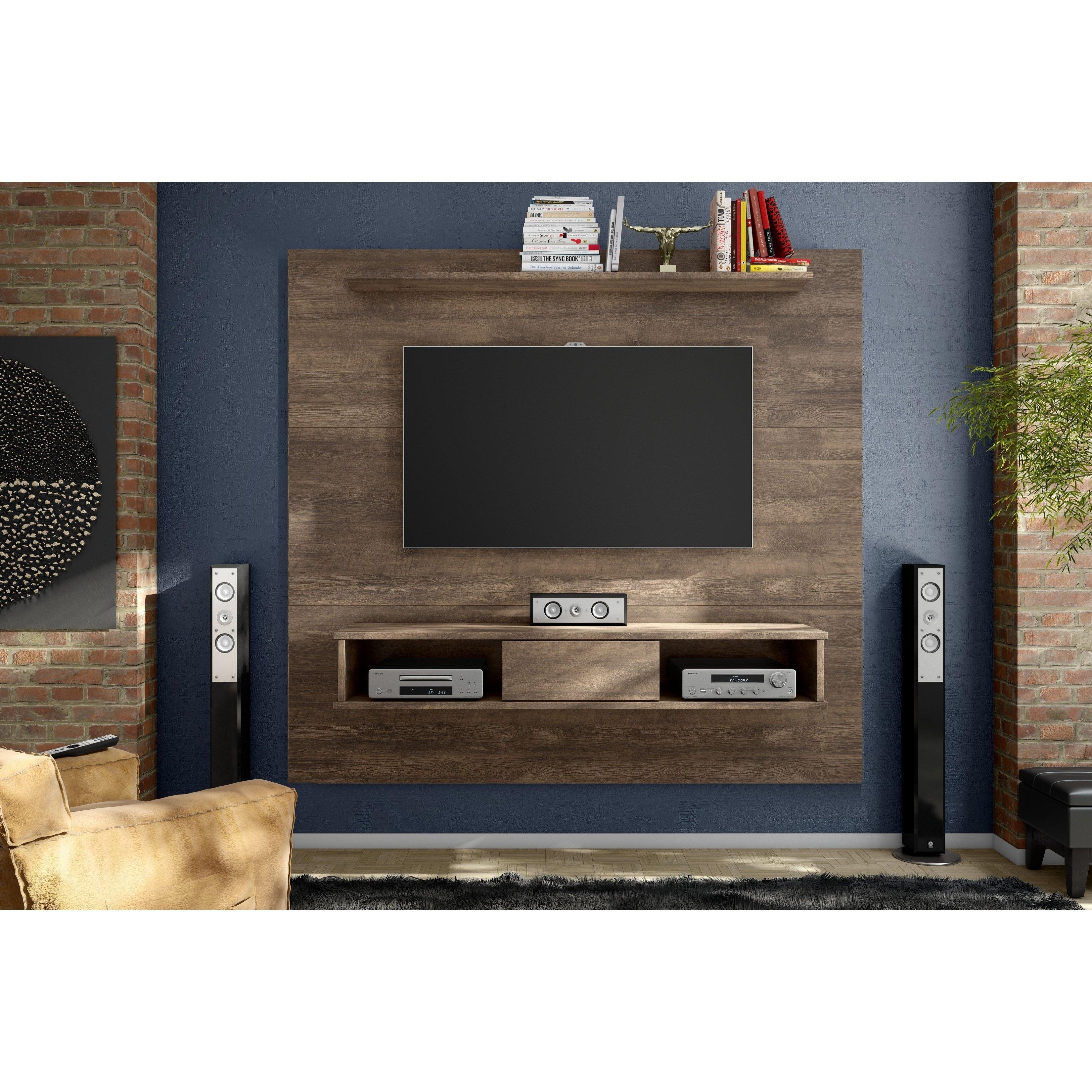 Shop Strick & Bolton Waller Mid Century 2 Shelf 70 Inch Tv Board Inside Walton 60 Inch Tv Stands (View 22 of 30)