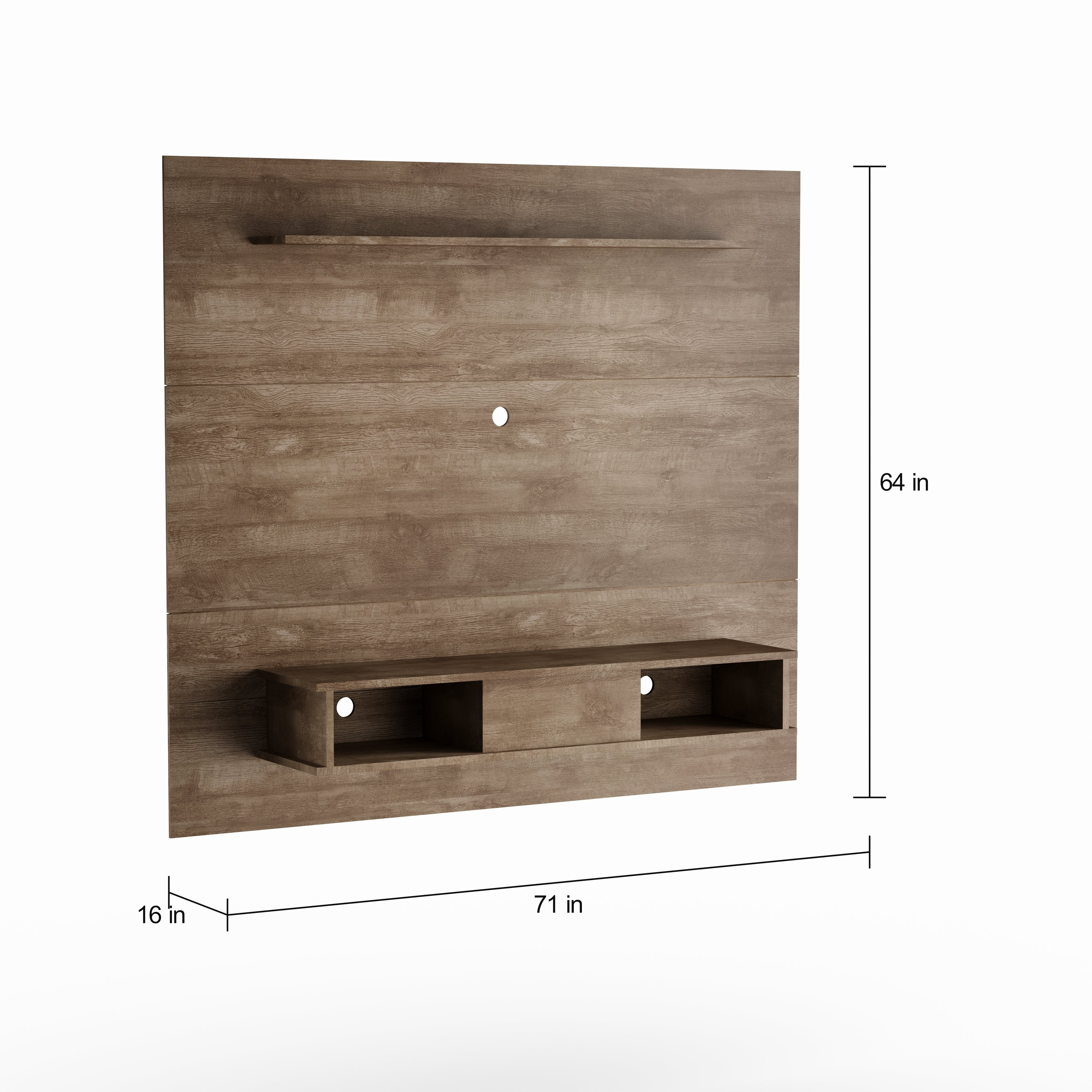 Shop Strick & Bolton Waller Mid Century 2 Shelf 70 Inch Tv Board Throughout Walton Grey 60 Inch Tv Stands (View 28 of 30)