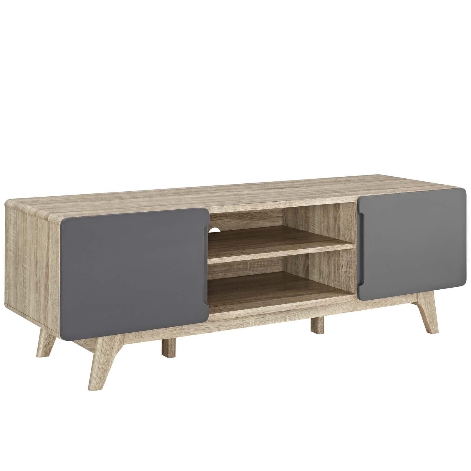 """Shop Tread 59"""" Tv Stand - 59 Inches - Free Shipping Today in Rowan 45 Inch Tv Stands (Image 18 of 30)"""