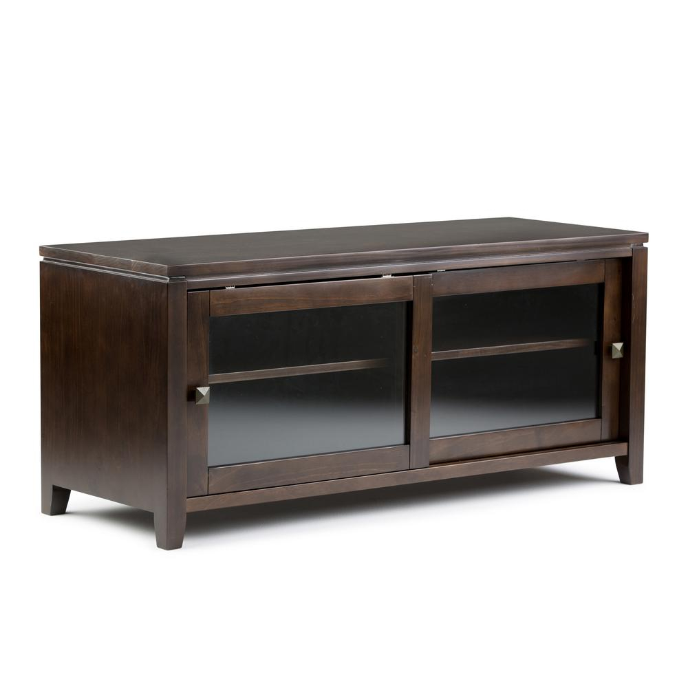 Simpli Home – Furniture – The Home Depot Within Noah Rustic White 66 Inch Tv Stands (View 17 of 30)