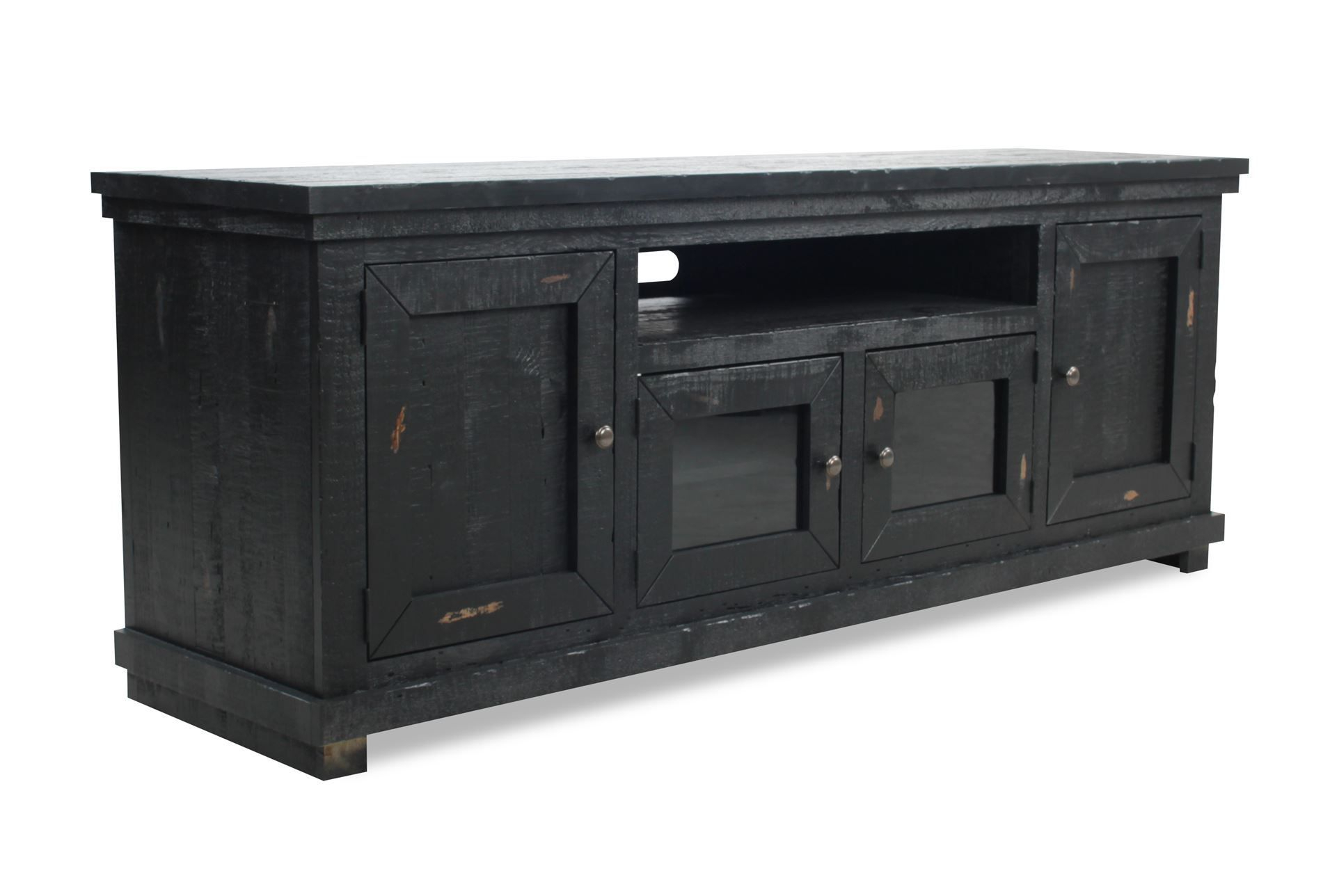 Sinclair Black 74 Inch Tv Console | House | Black Tv Console, Living in Sinclair Grey 64 Inch Tv Stands (Image 11 of 30)