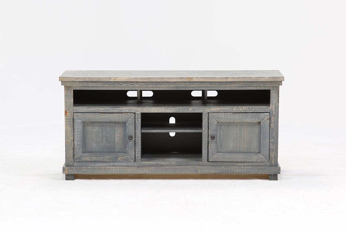 Sinclair Blue 64 Inch Tv Stand | Living Spaces with regard to Sinclair Grey 64 Inch Tv Stands (Image 12 of 30)