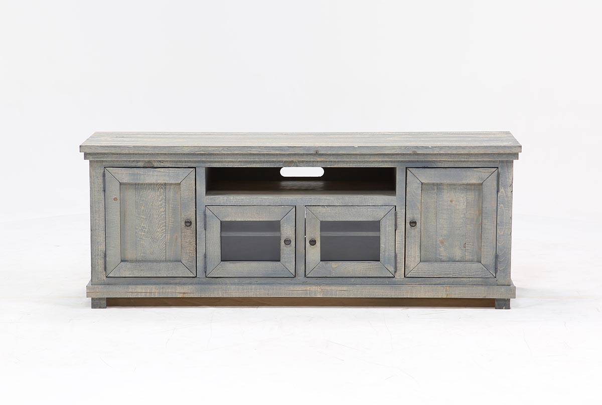 Sinclair Blue 74 Inch Tv Stand | Living Spaces With Canyon 54 Inch Tv Stands (View 15 of 30)