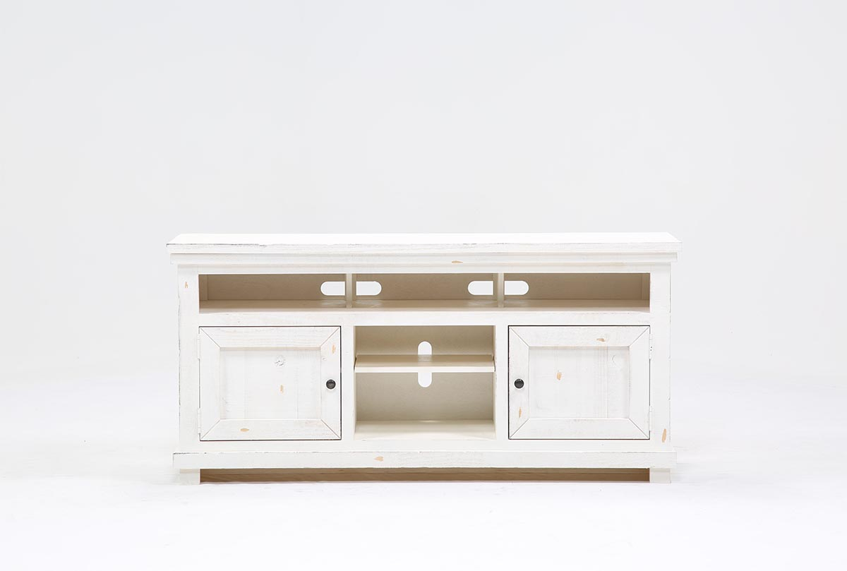 Sinclair White 64 Inch Tv Stand | Living Spaces Pertaining To Sinclair Blue 54 Inch Tv Stands (View 7 of 30)