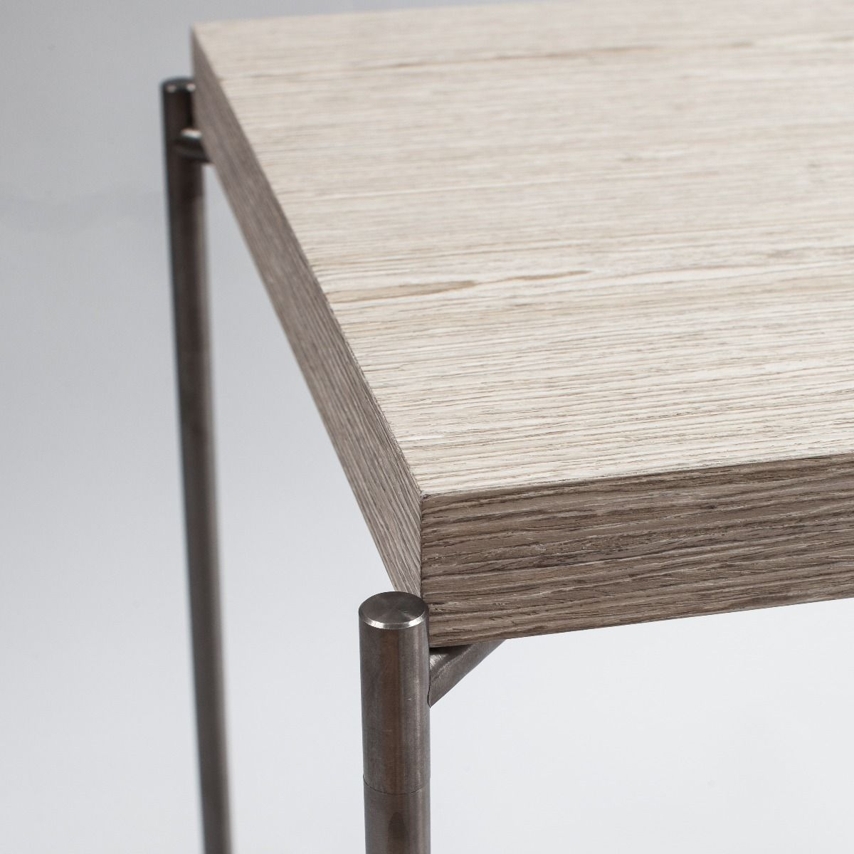 Small Console Table Tray Tops Of Weathered Oak & Gunmetal With Gun For Gunmetal Media Console Tables (View 11 of 30)