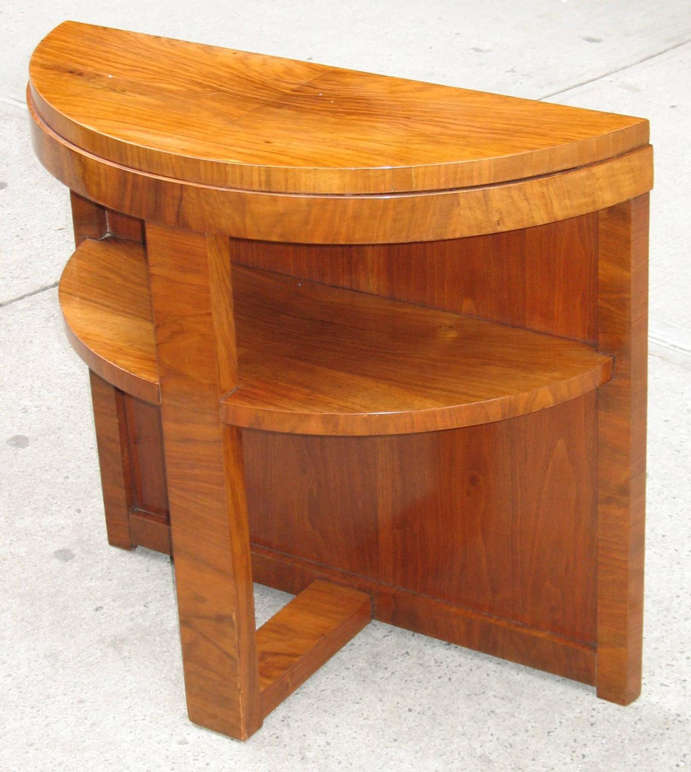 Small French Mid Century Modern Demilune Console Table For Modern Pertaining To Ethan Console Tables (View 24 of 30)