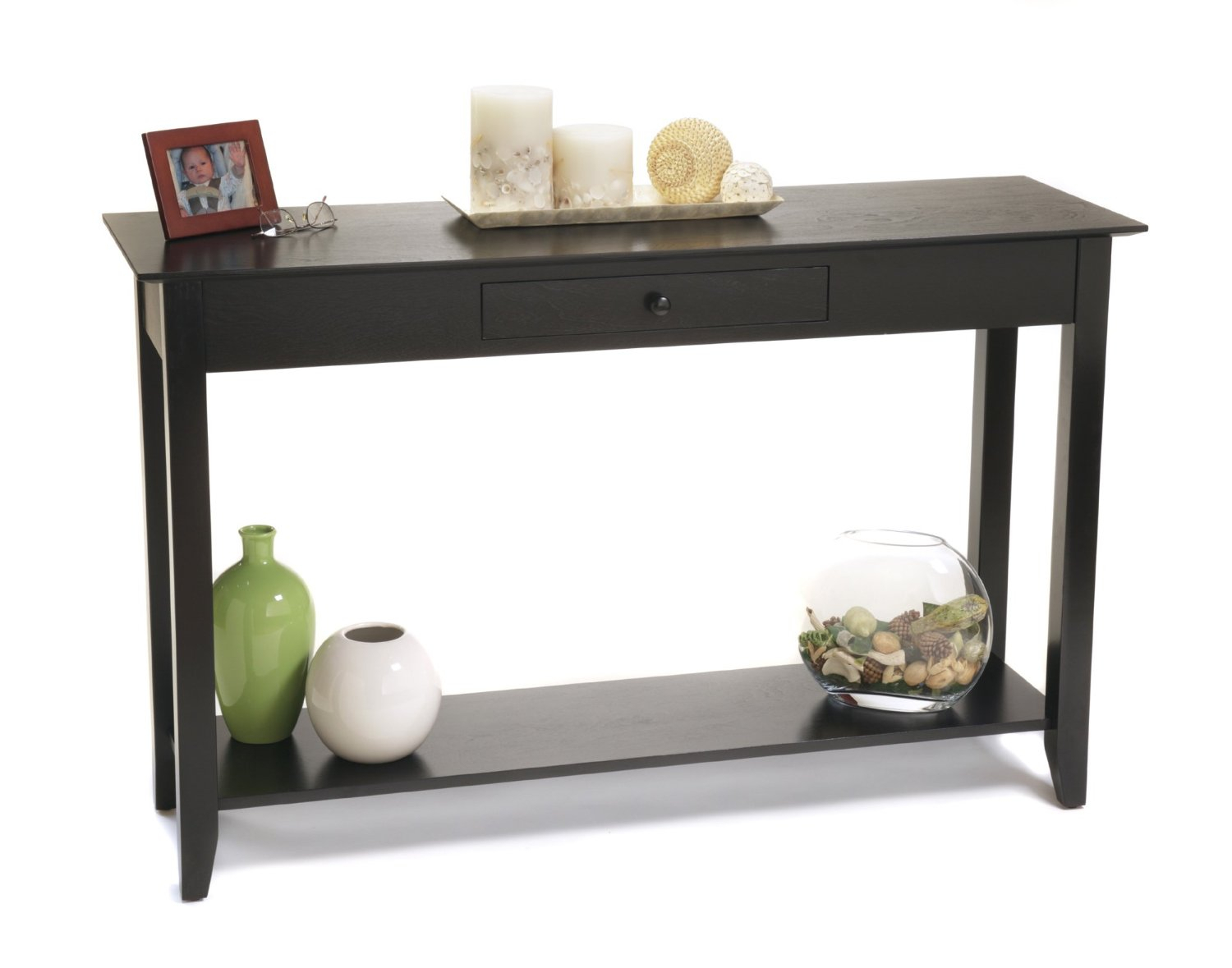 Sofa Table: Amusing Black Sofa Table Ikea Ideas Ikea White Sofa Pertaining To Parsons Black Marble Top & Brass Base 48x16 Console Tables (View 11 of 30)