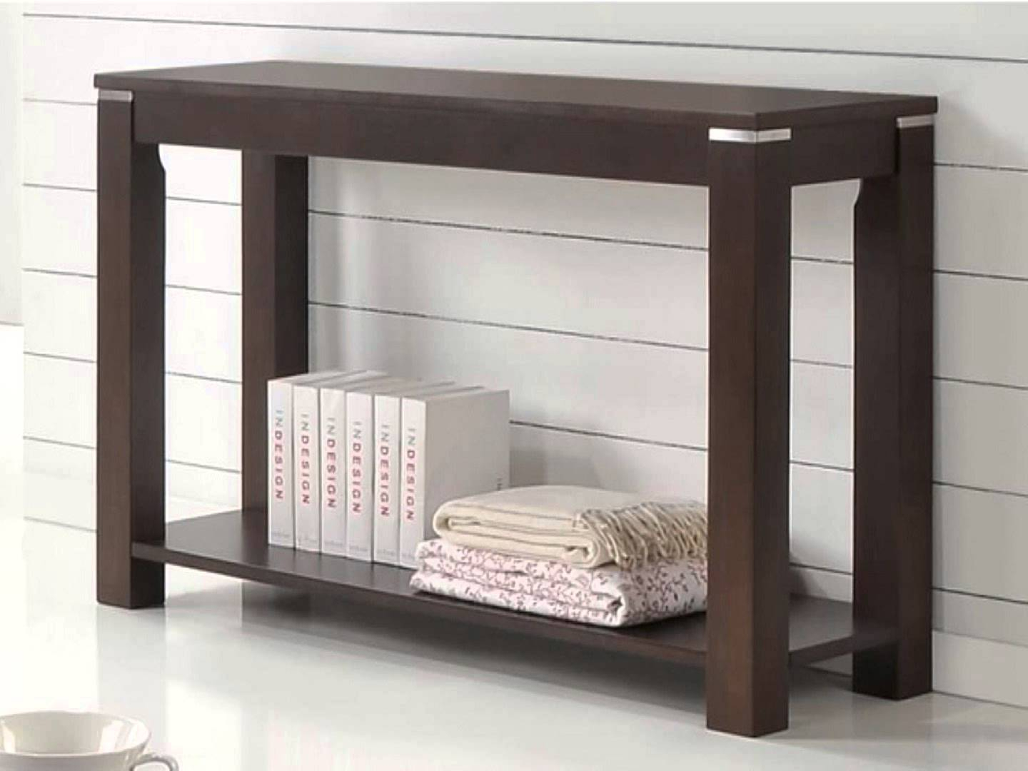 Sofa Table: Appealing Contemporary Sofa Table Design Skinny Console Inside Parsons Grey Solid Surface Top & Brass Base 48x16 Console Tables (View 17 of 30)