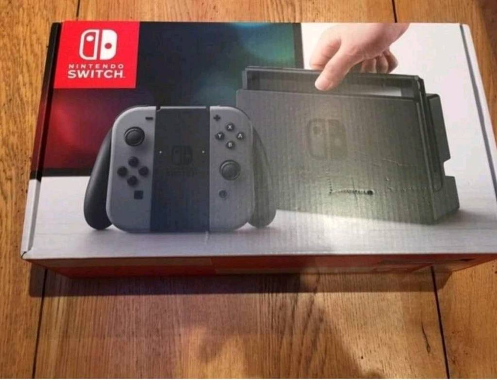 Sold *** Nintendo Switch Console + 64Gb Sd Card | In Salford For Switch Console Tables (View 22 of 30)